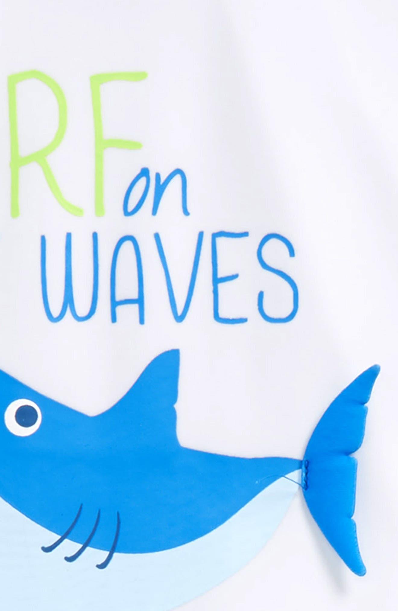 Alternate Image 2  - Sol Swim Shark Surf Two-Piece Rashguard Swimsuit (Toddler Boys & Little Boys)