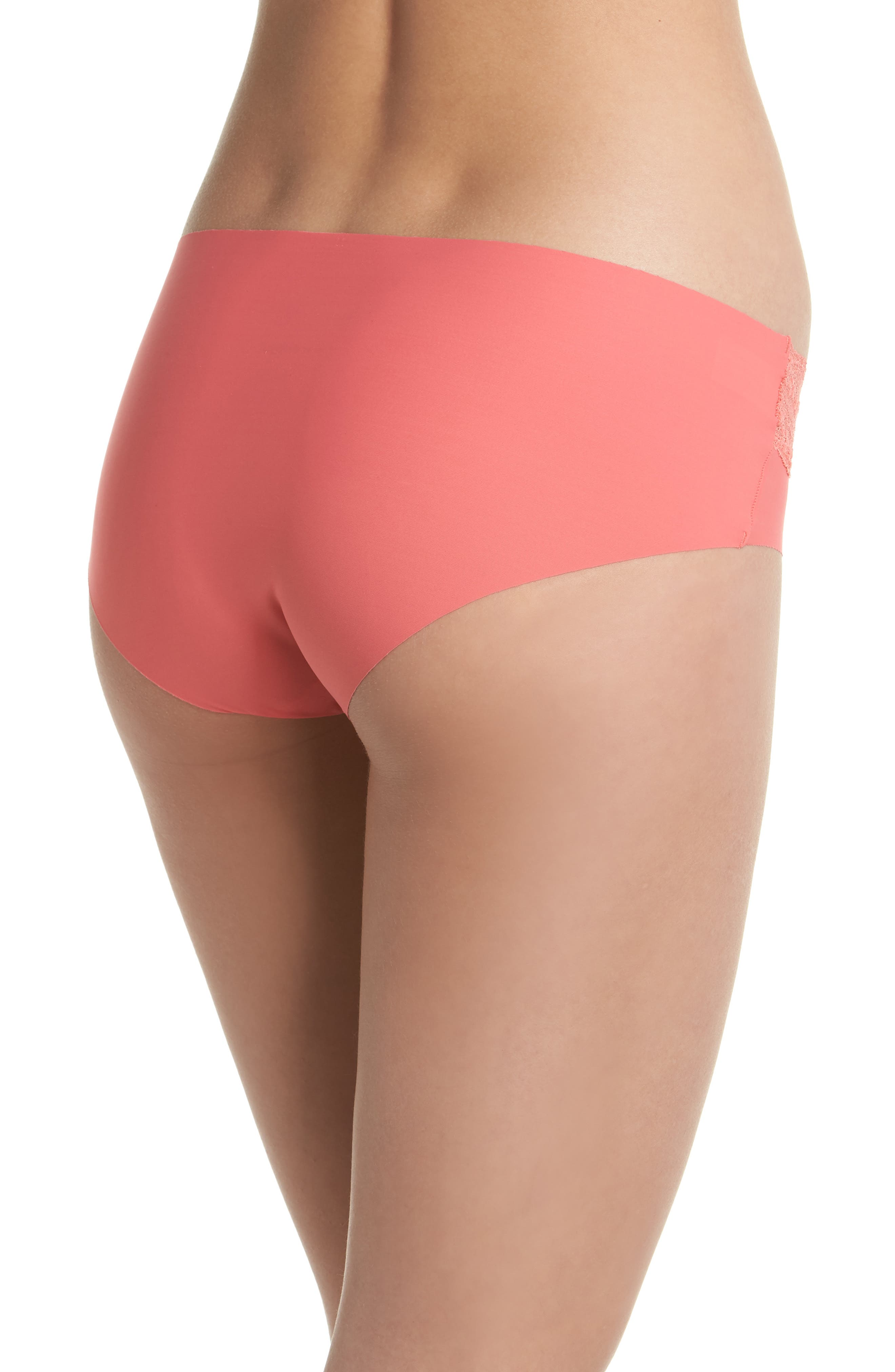 b.bare Hipster Panties,                             Alternate thumbnail 2, color,                             Calypso Coral