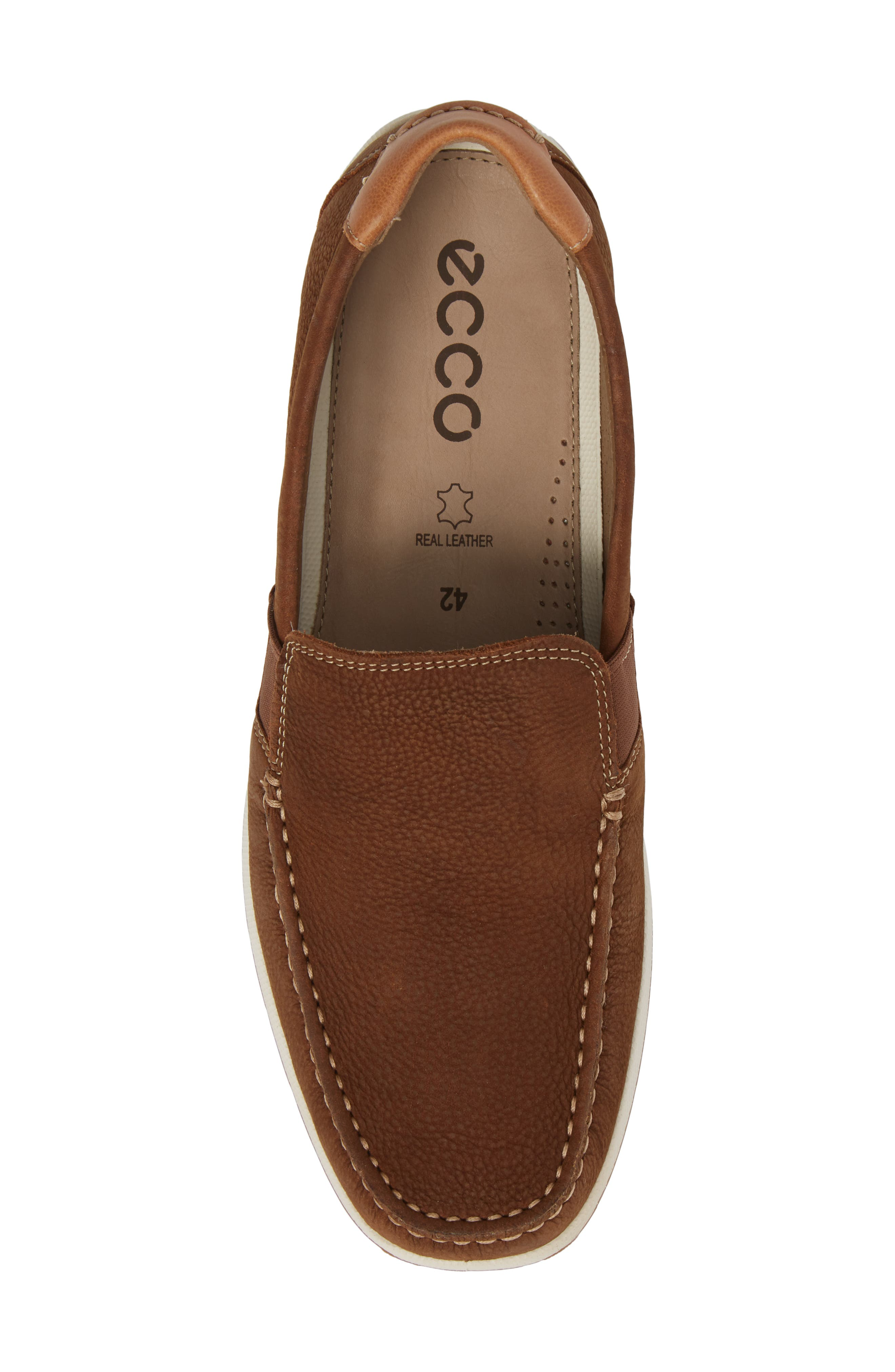 DIP Lux Moc Toe Driver,                             Alternate thumbnail 5, color,                             Mahogany Leather