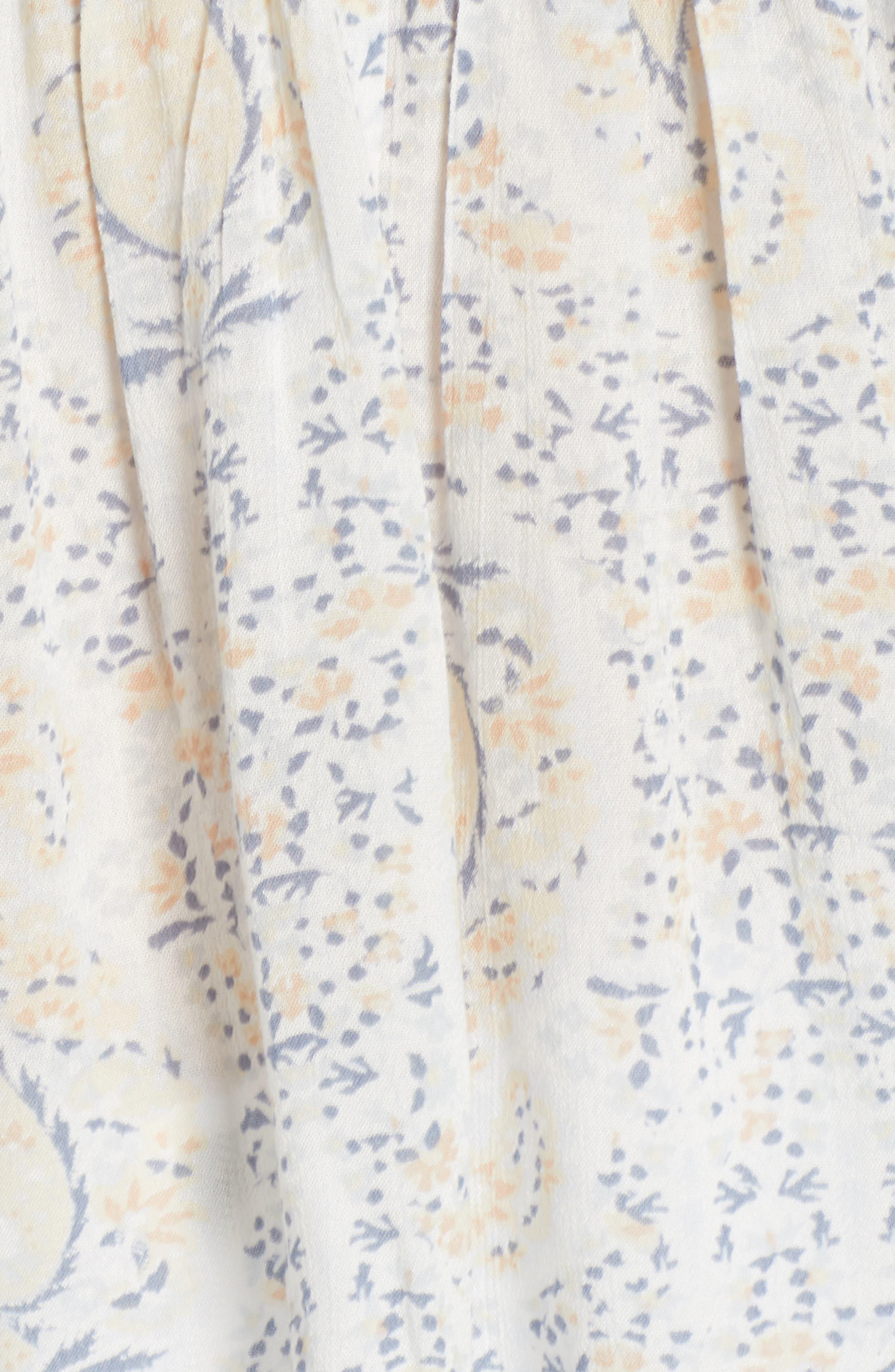 Flutter Sleeve Peplum Top,                             Alternate thumbnail 6, color,                             Blue Multi