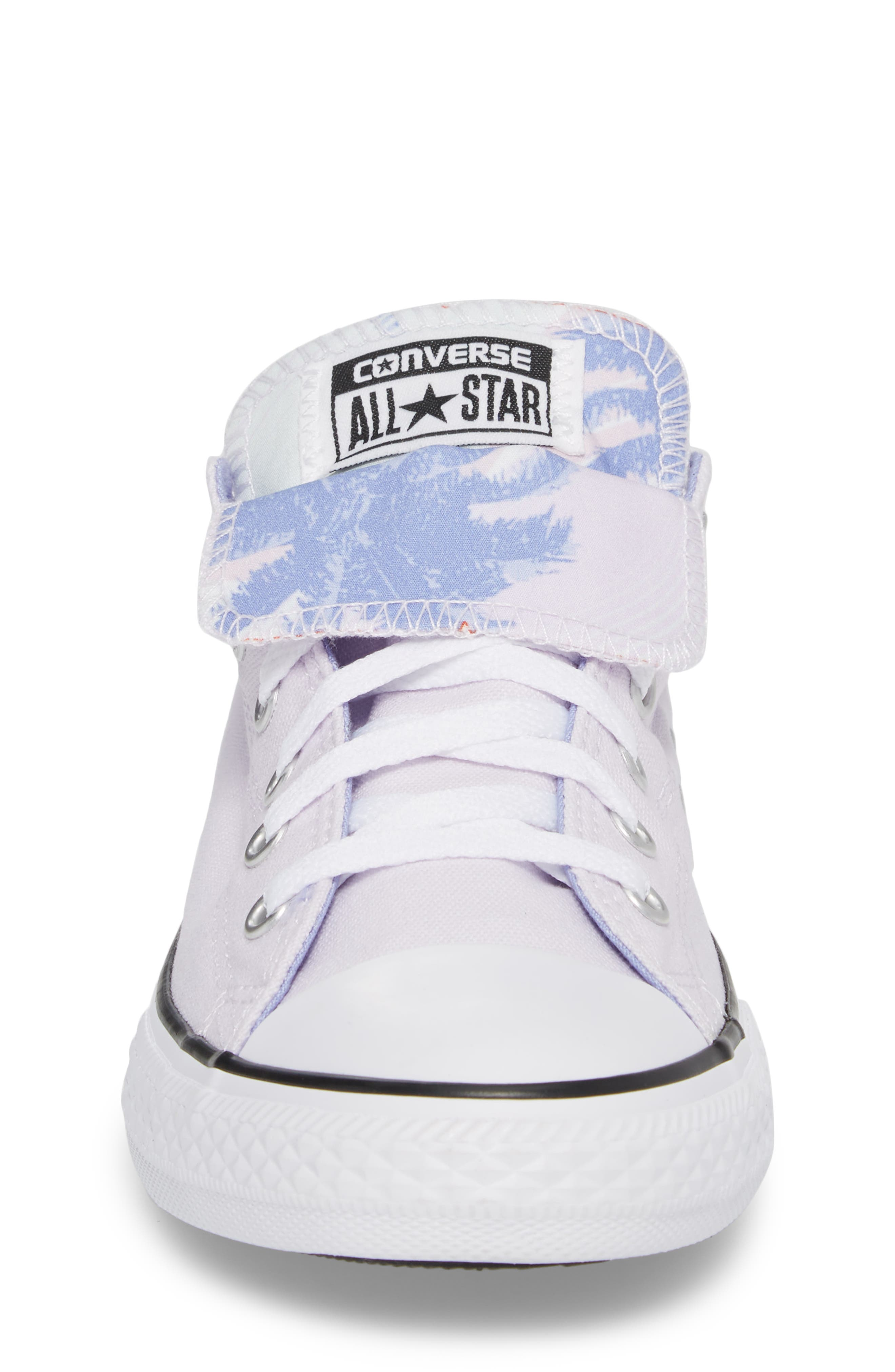 Chuck Taylor<sup>®</sup> All Star<sup>®</sup> Palm Tree Double Tongue Low Top Sneaker,                             Alternate thumbnail 4, color,                             Barely Grape