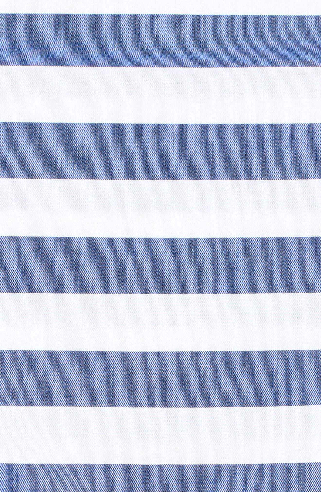Stripe Oversize Shirt,                             Alternate thumbnail 6, color,                             Blue Stripe