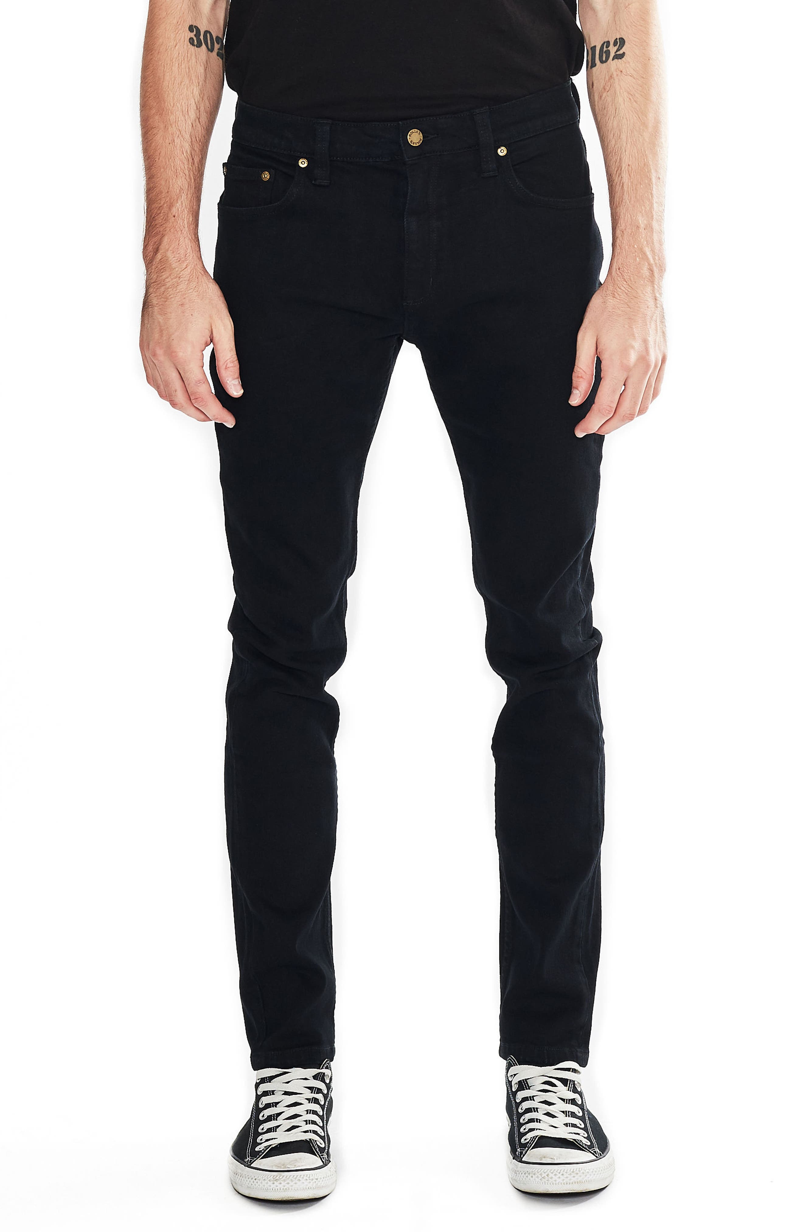 Thin Captain Slim Fit Jeans,                             Main thumbnail 1, color,                             Bon Black