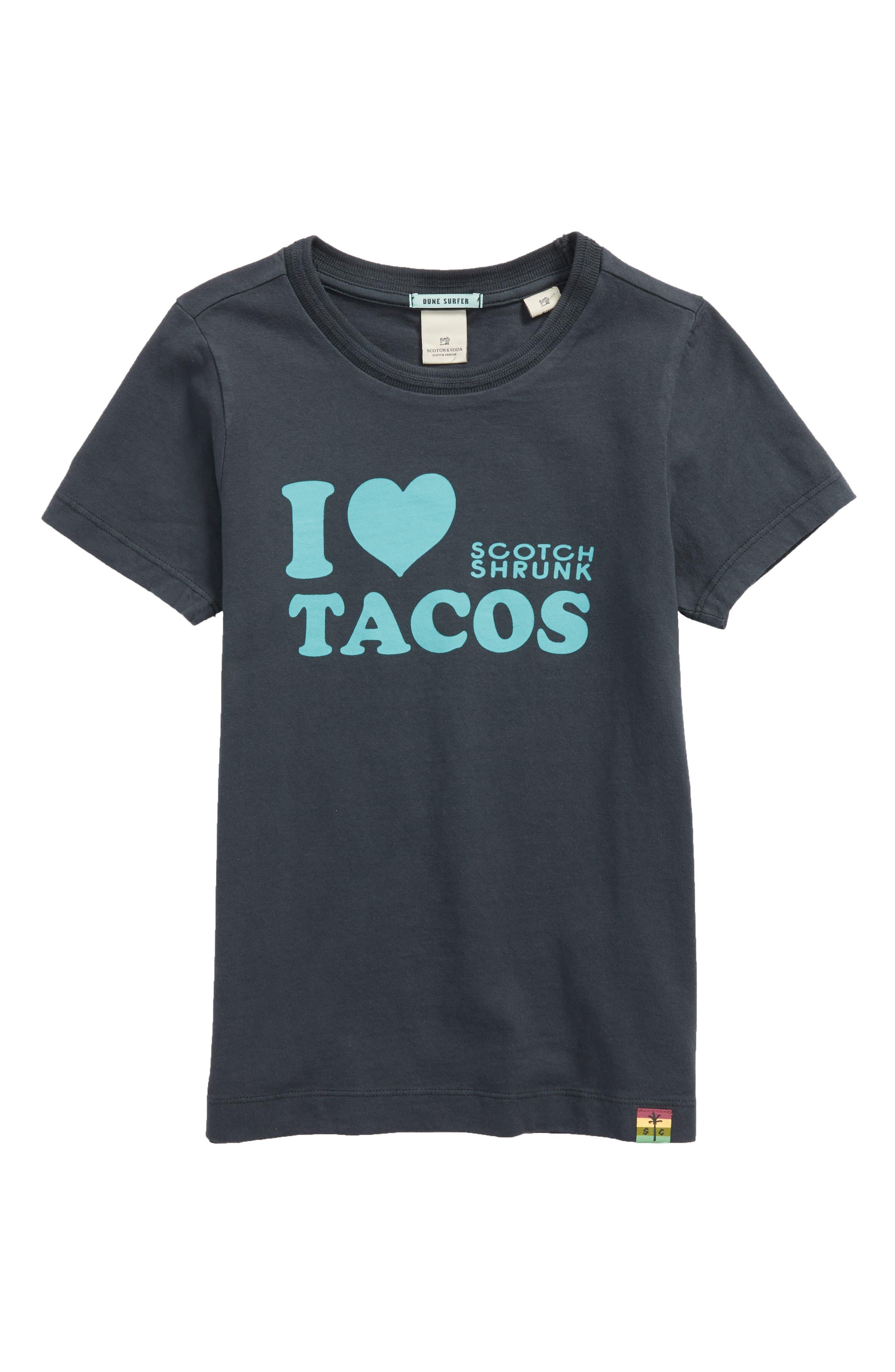 I Love Tacos T-Shirt,                         Main,                         color, Antra
