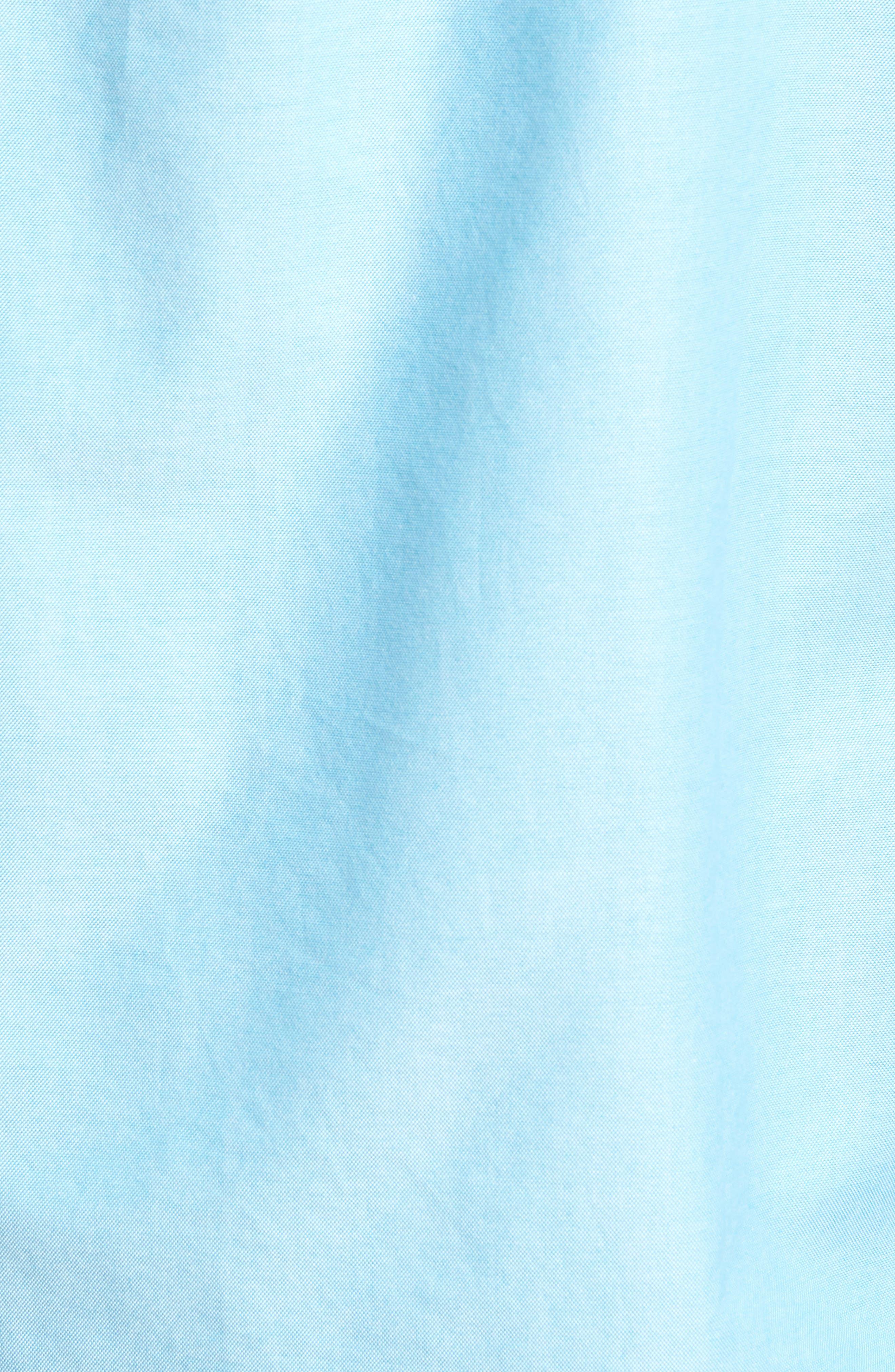 Slim Fit Stretch Pima Cotton Oxford Shirt,                             Alternate thumbnail 5, color,                             Tropical Blue