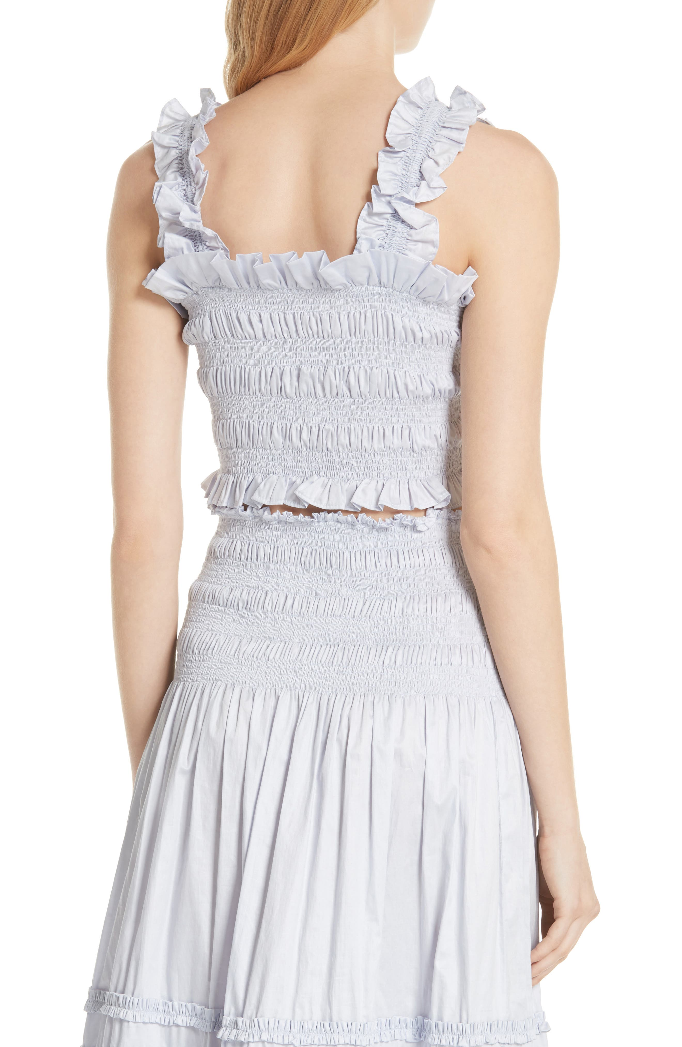 Alternate Image 2  - Rebecca Taylor Smocked Sleeveless Cotton Top