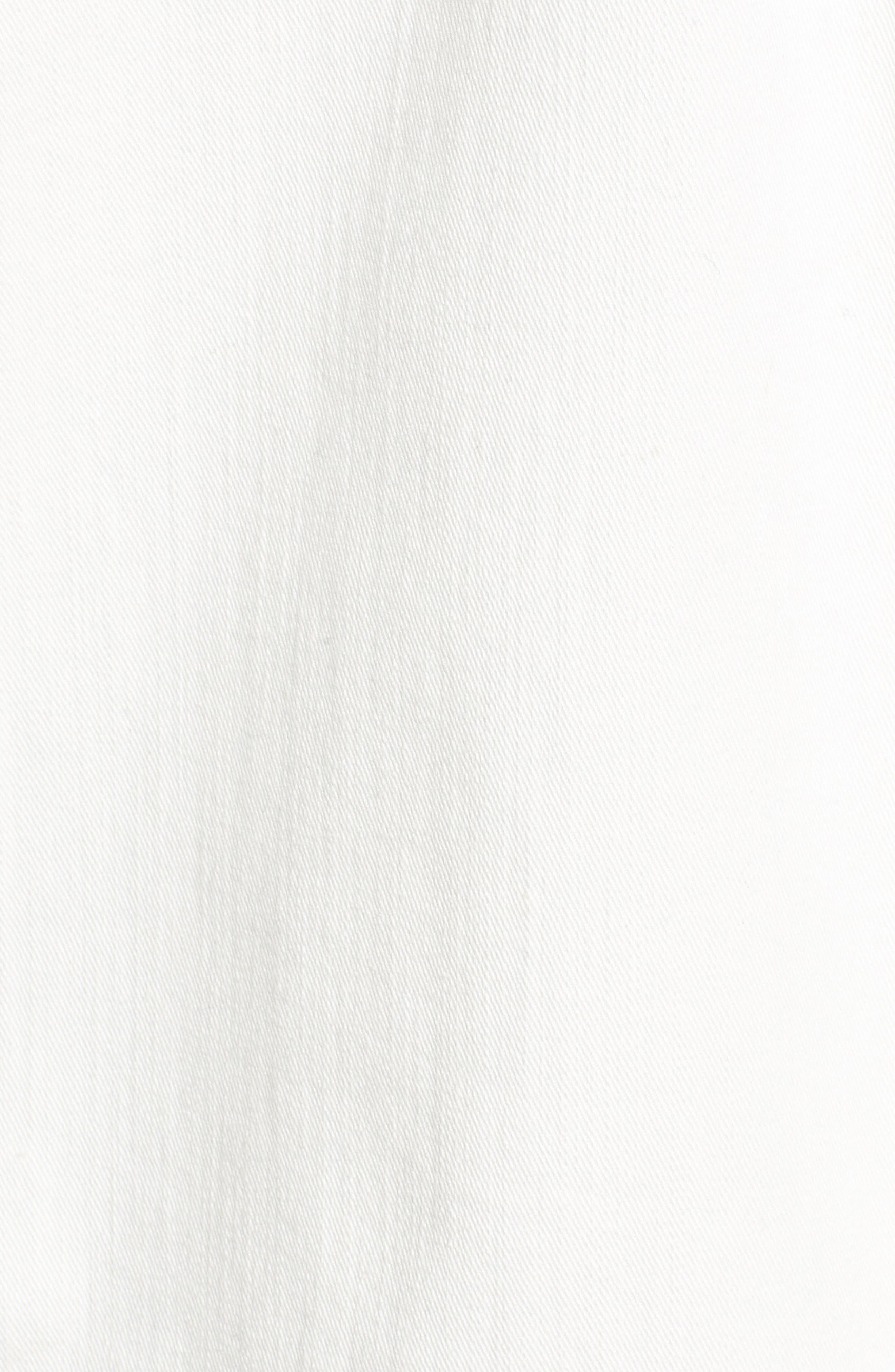 Relaxed White Denim Jacket,                             Alternate thumbnail 6, color,                             White