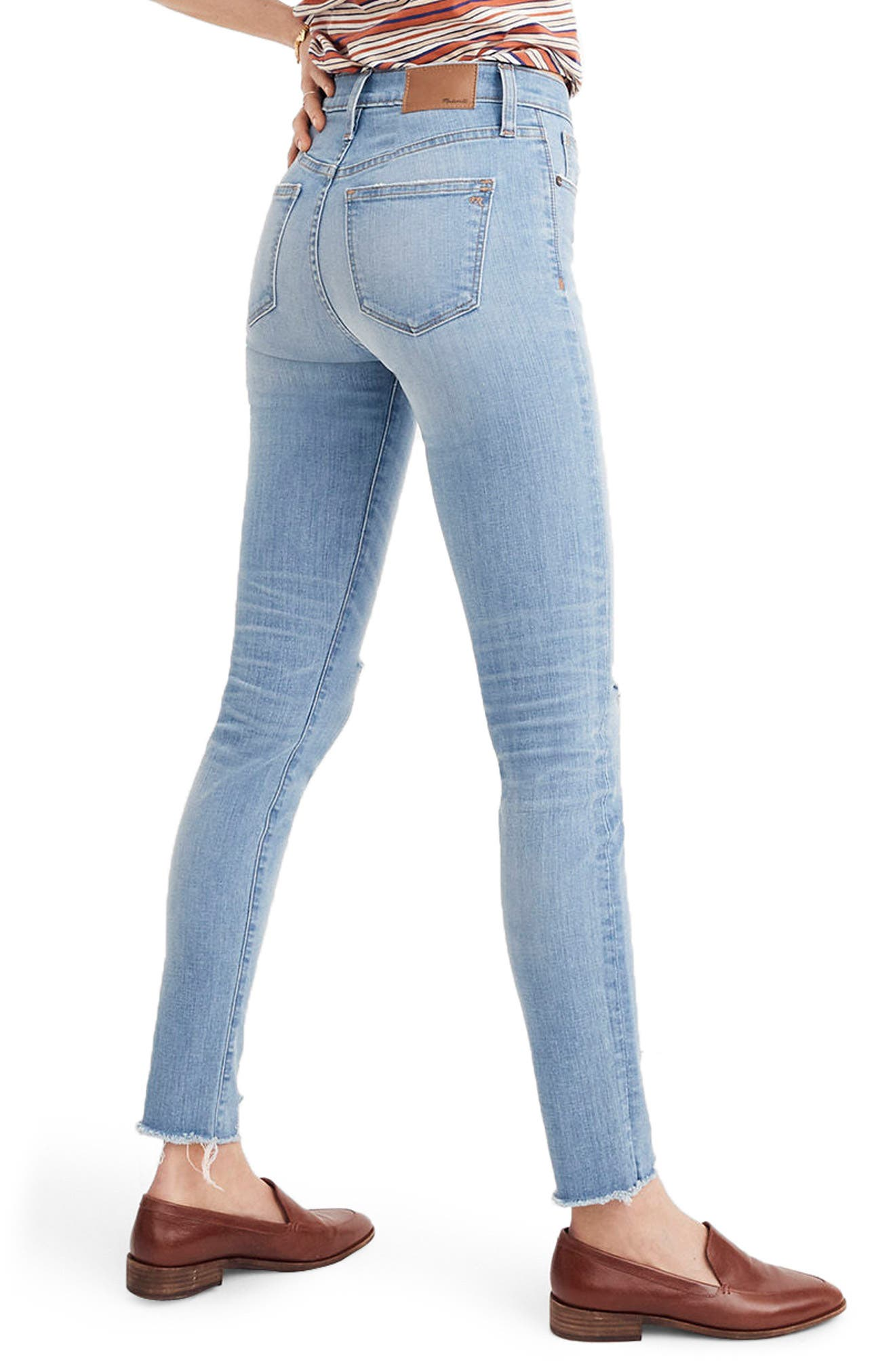 9-Inch High Waist Skinny Jeans,                             Alternate thumbnail 3, color,                             Ontario Wash