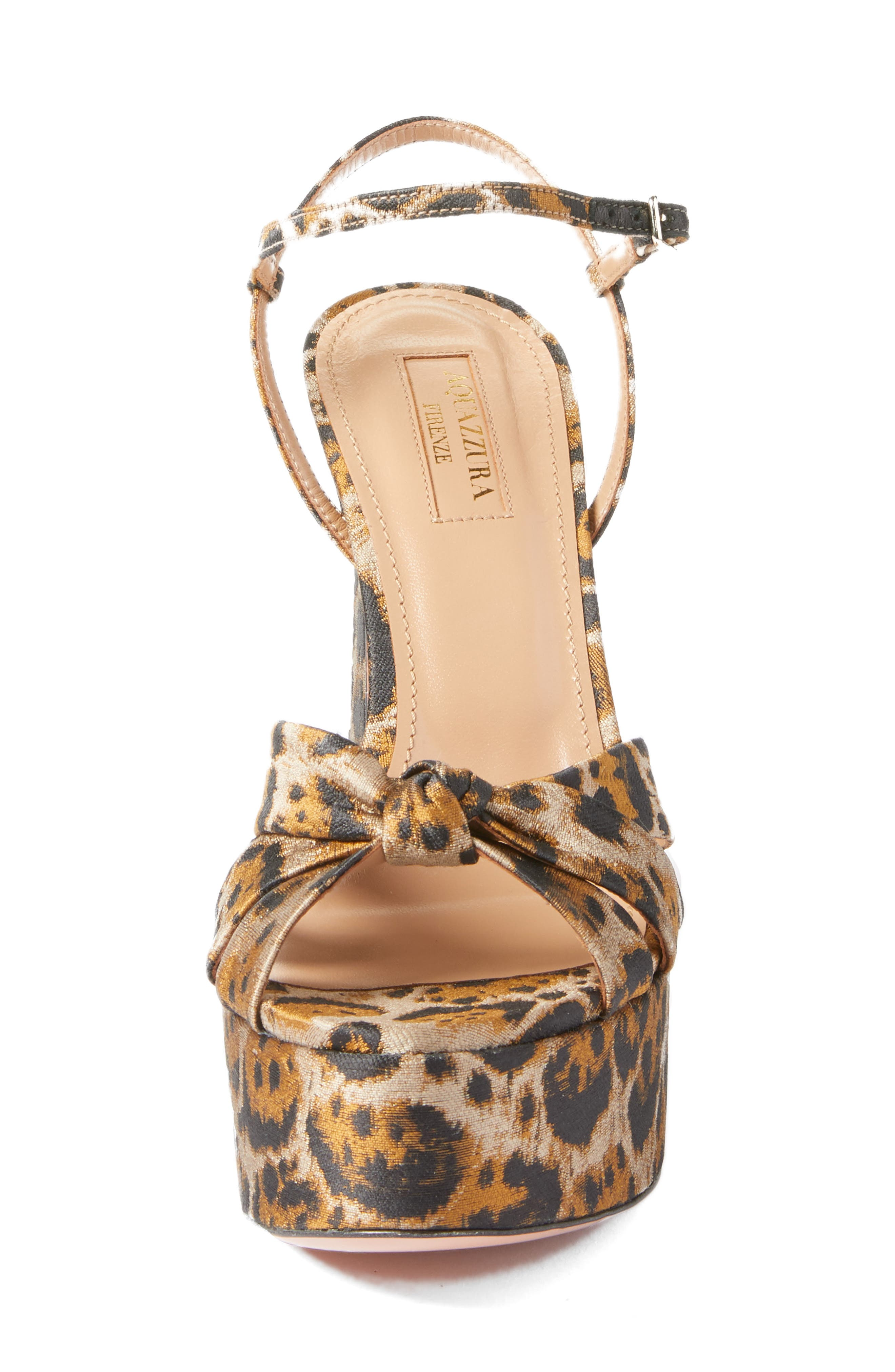 Baba Platform Sandal,                             Alternate thumbnail 4, color,                             Leopard