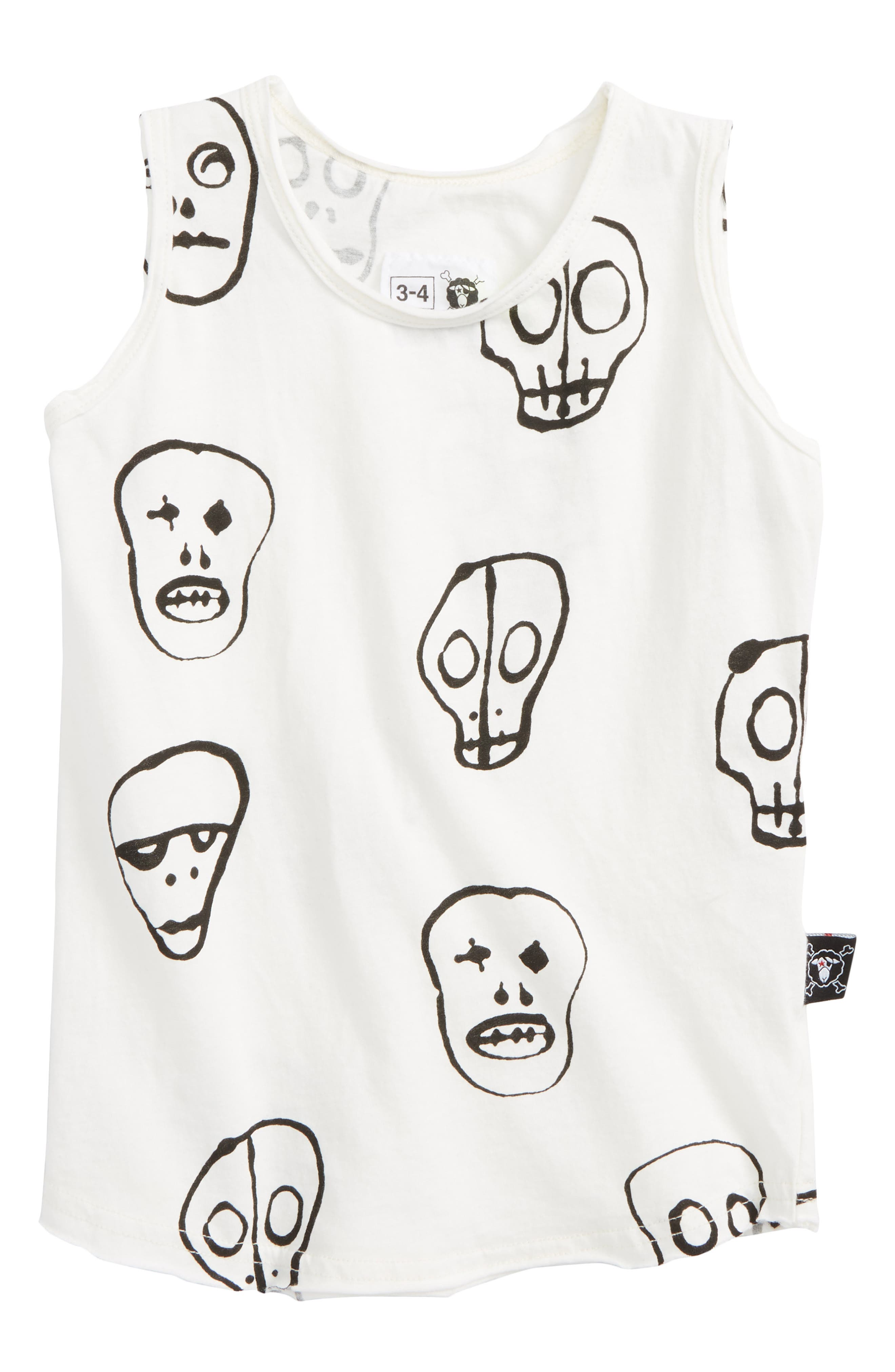 Nununu Skull Print Tank (Toddler Boys, Little Boys & Big Boys)