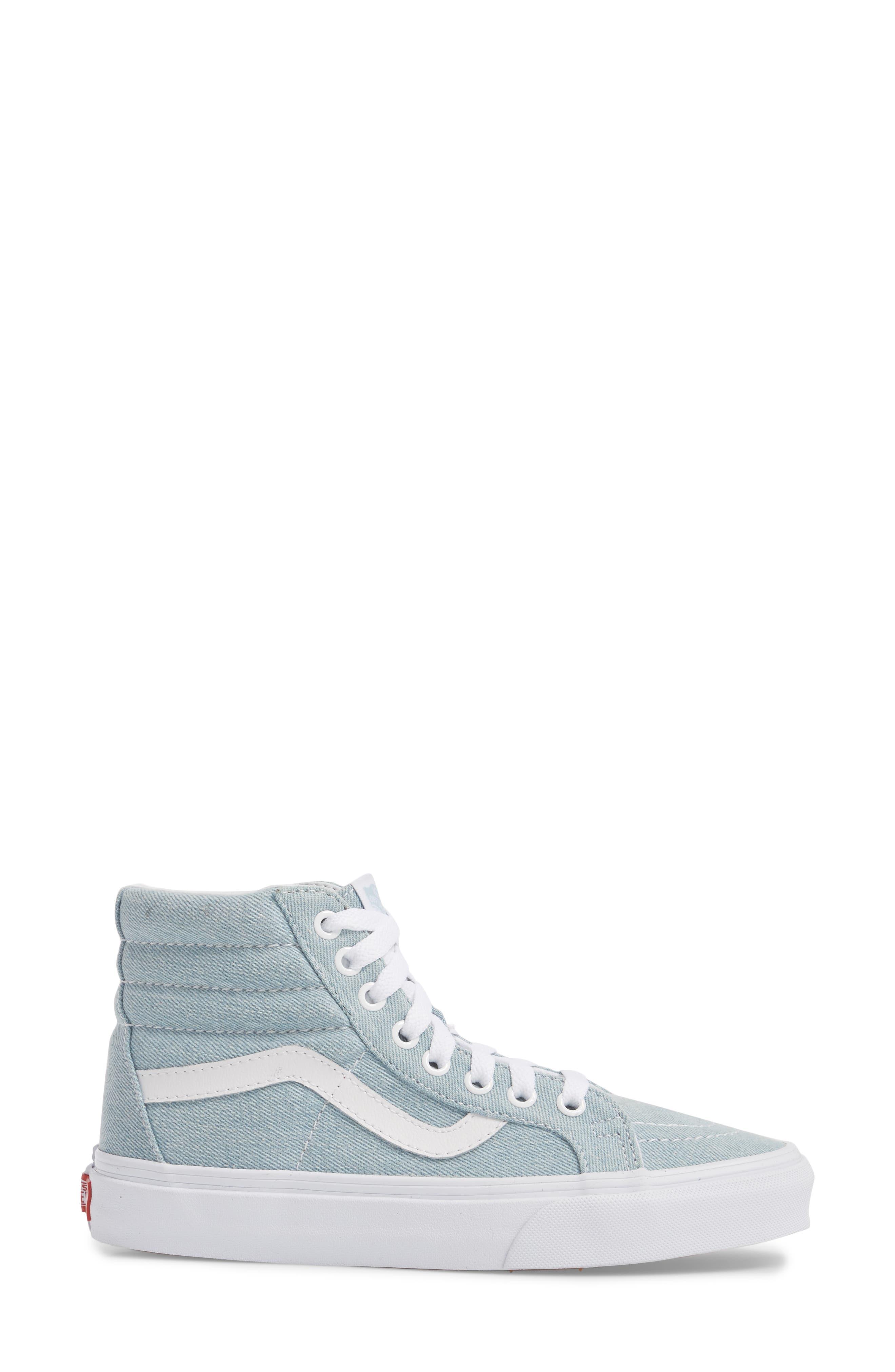 'Sk8-Hi Reissue' Sneaker,                             Alternate thumbnail 5, color,                             Denim Baby Blue