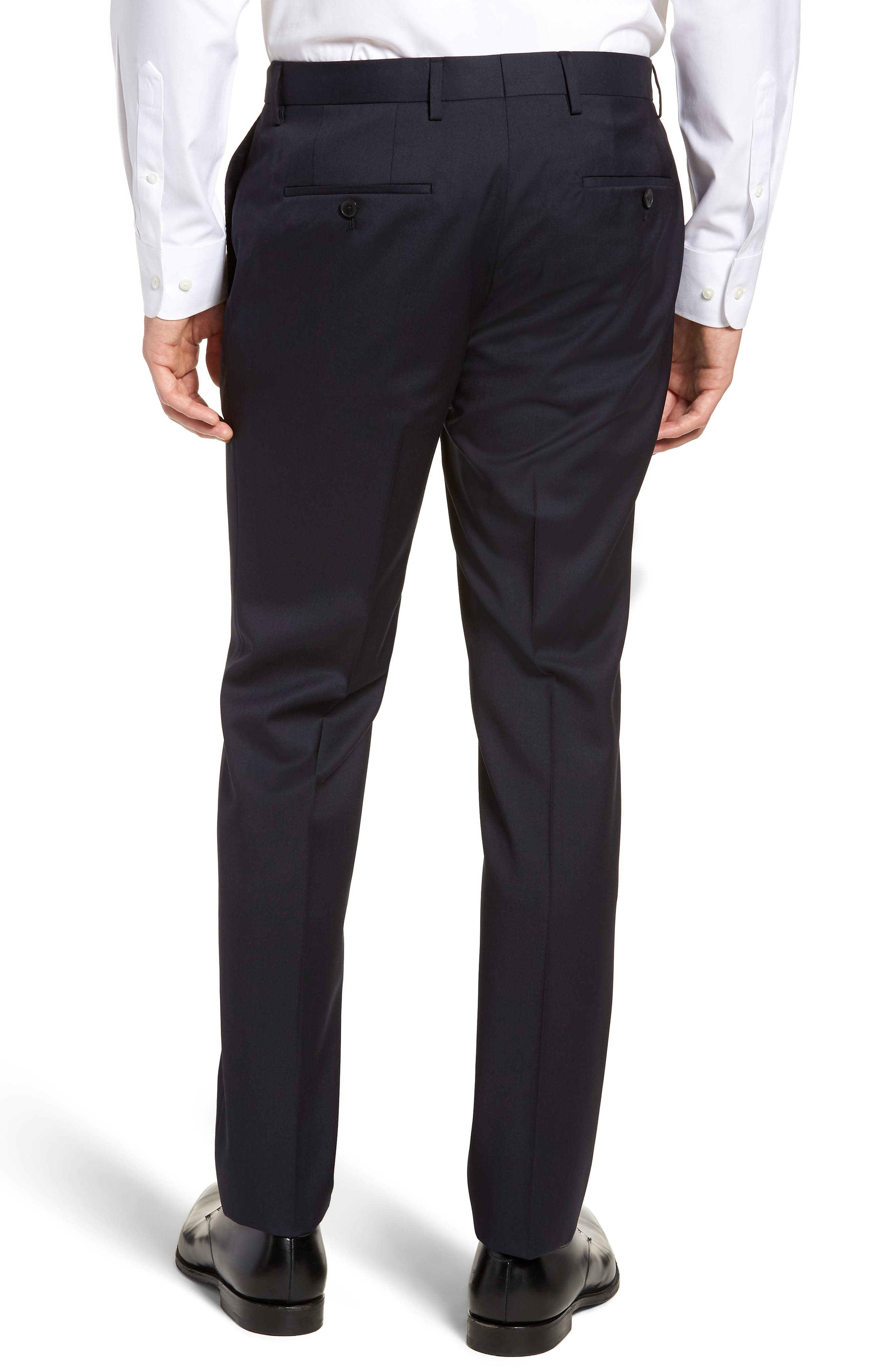 Gibson CYL Flat Front Solid Wool Trousers,                             Alternate thumbnail 2, color,                             Dark Blue