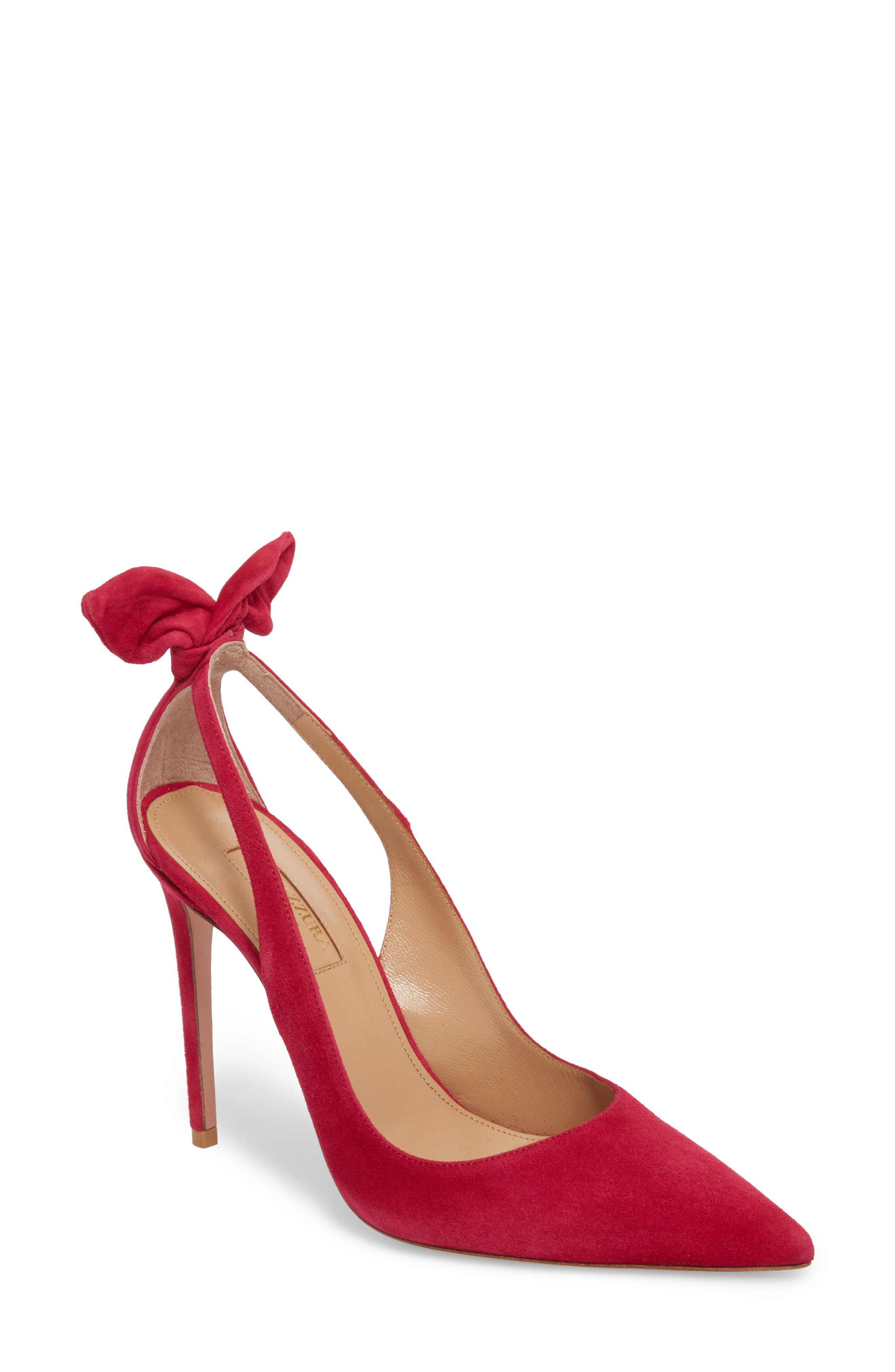 Deneuve Bow Pointy Toe Pump in Pink