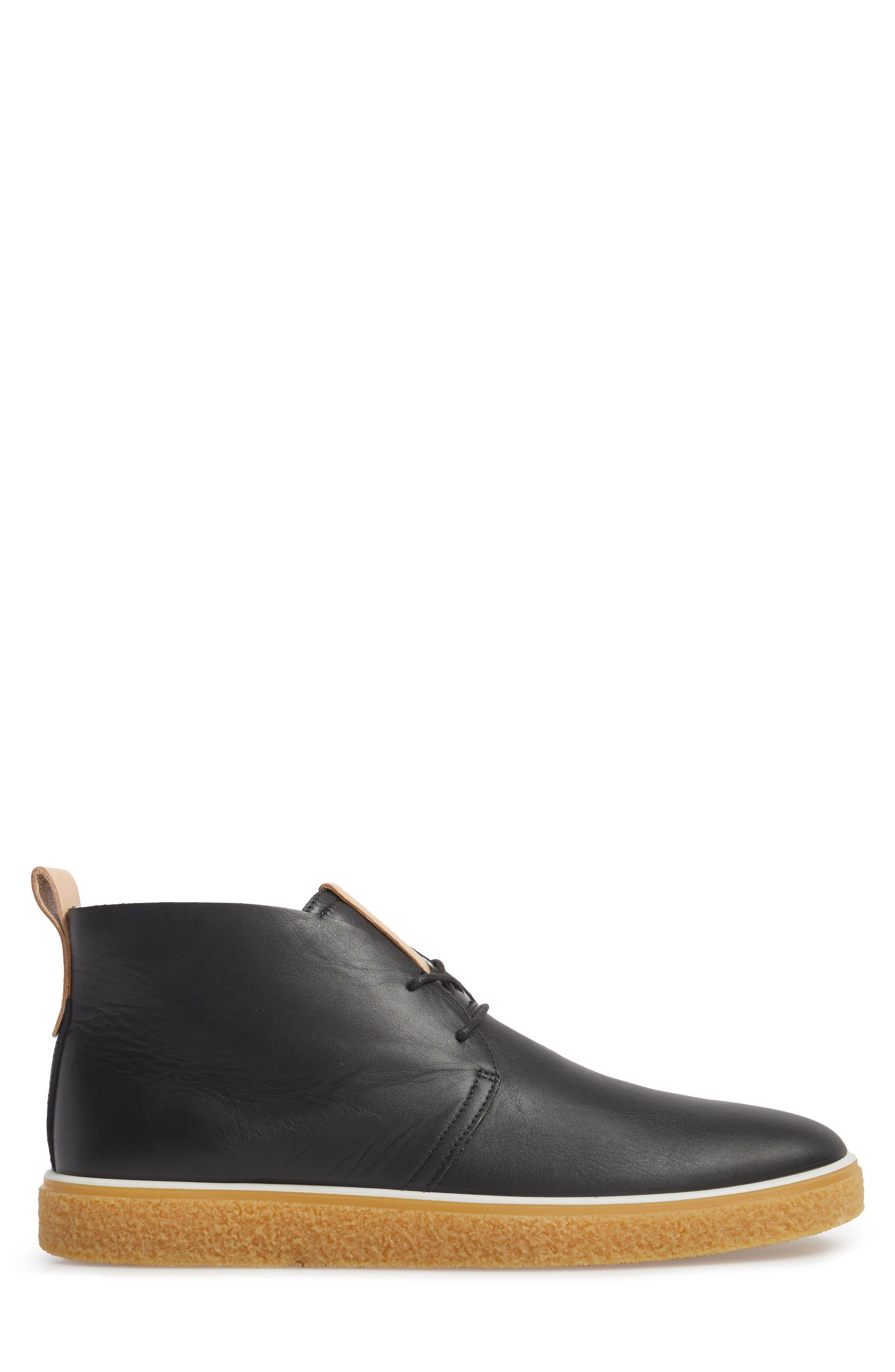 Crepetray Chukka Boot,                             Alternate thumbnail 3, color,                             Black Leather