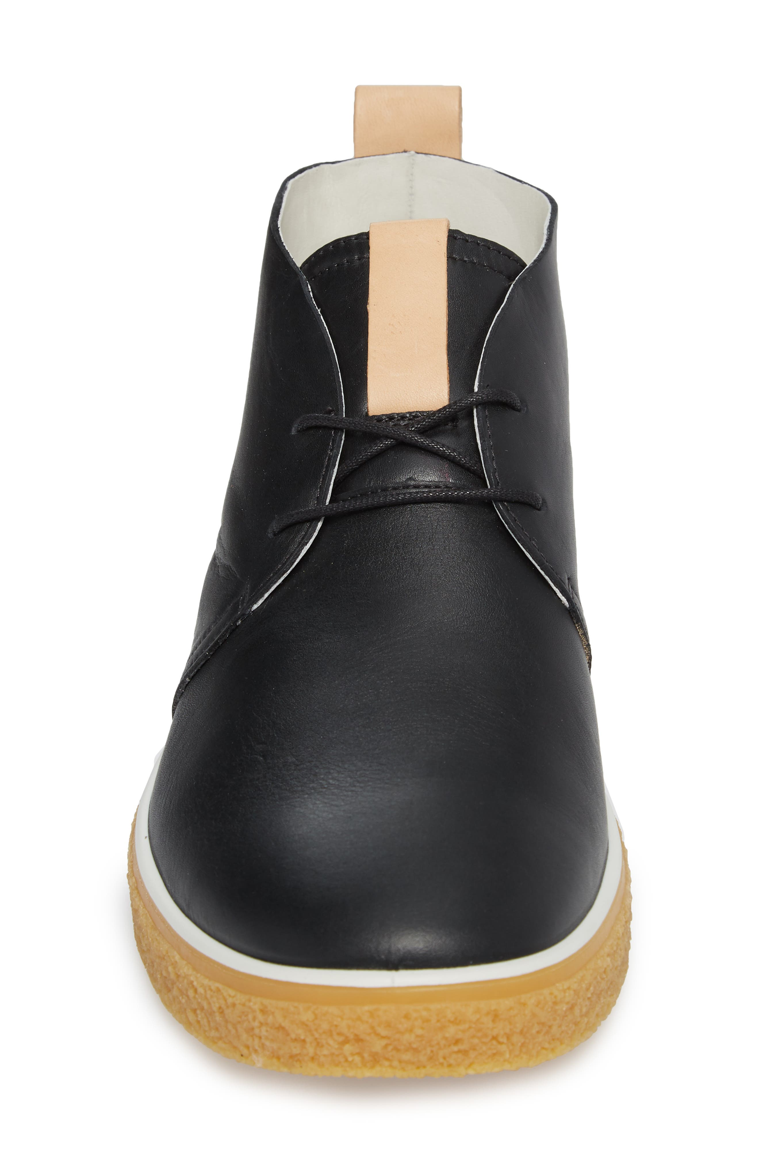 Crepetray Chukka Boot,                             Alternate thumbnail 4, color,                             Black Leather