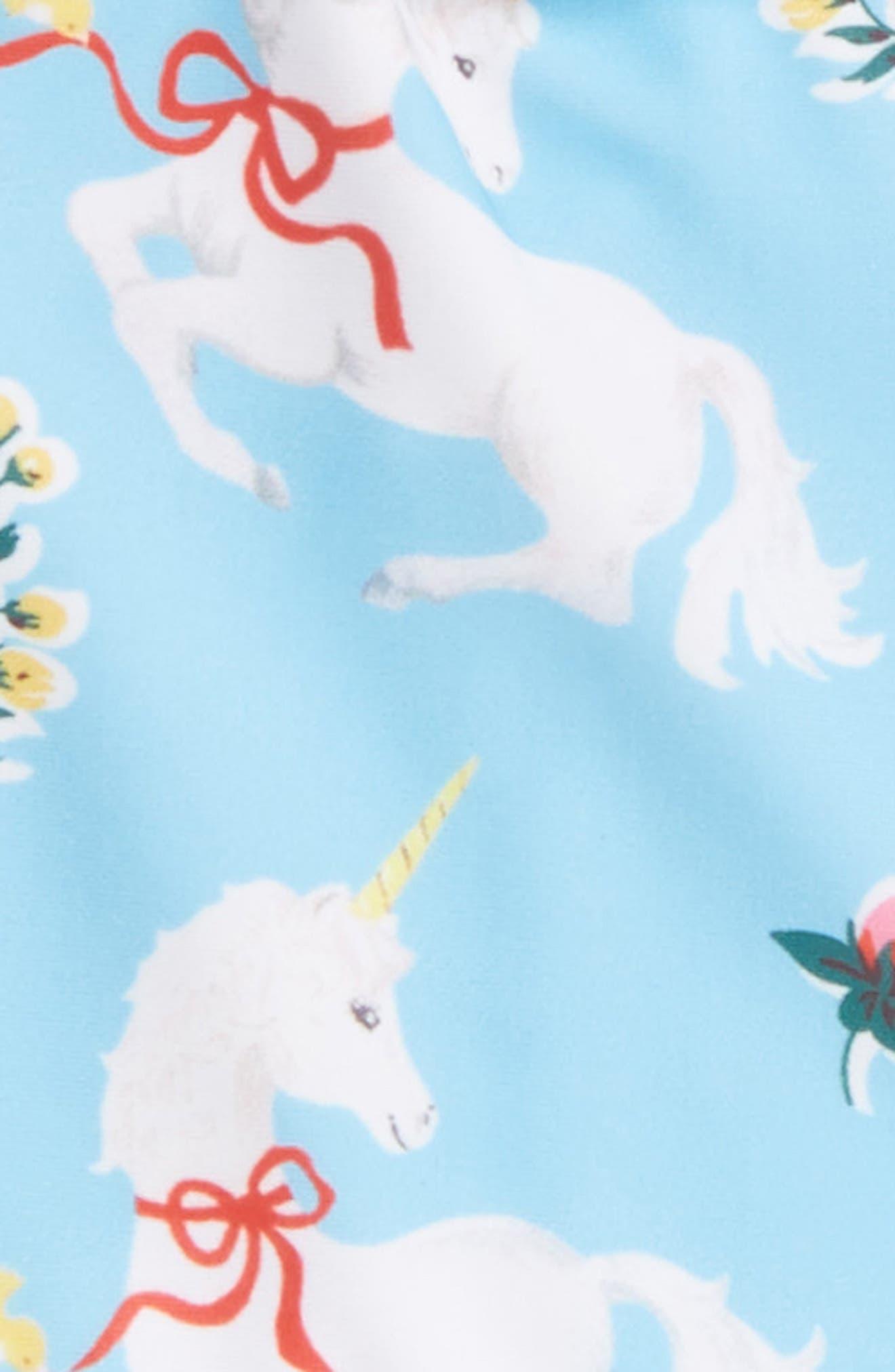 White Unicorns Tulle One-Piece Swimsuit,                             Alternate thumbnail 2, color,                             Blue