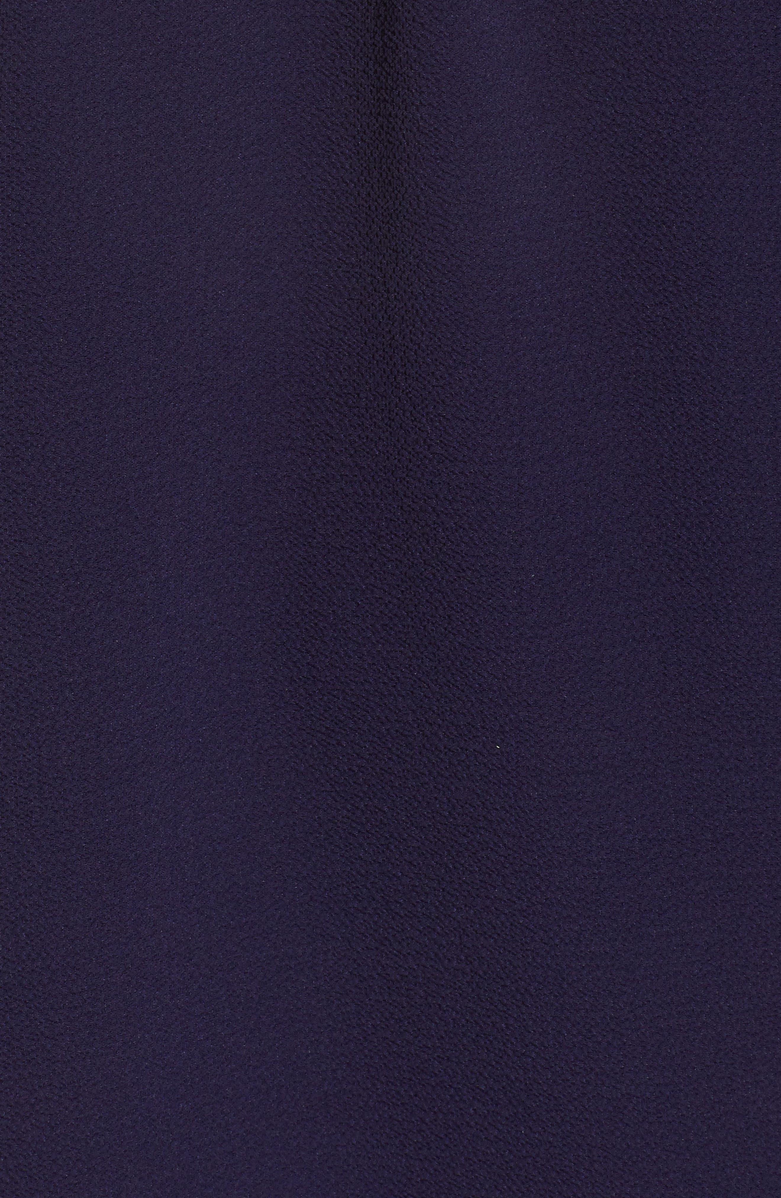 Off the Shoulder Embroidered Fringe Top,                             Alternate thumbnail 6, color,                             Evening Navy