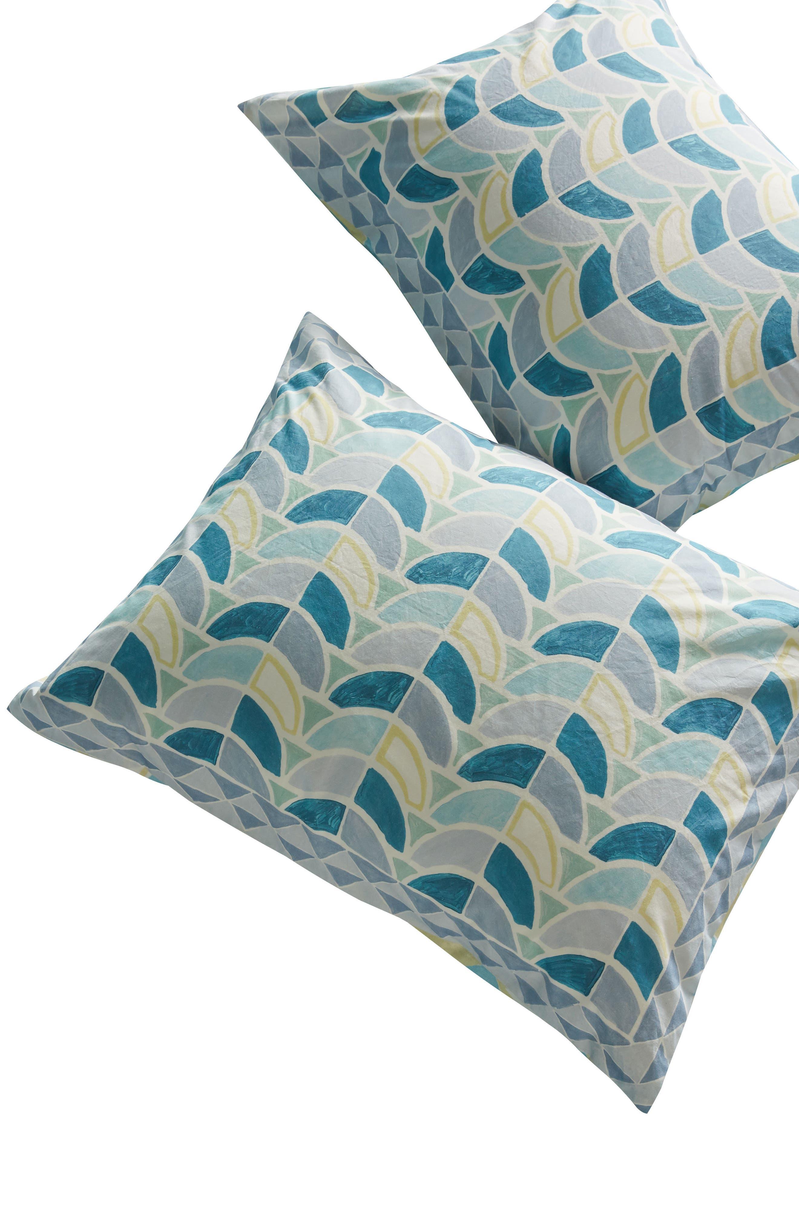 Rayne Pillow Shams,                             Alternate thumbnail 2, color,                             Blue Combo