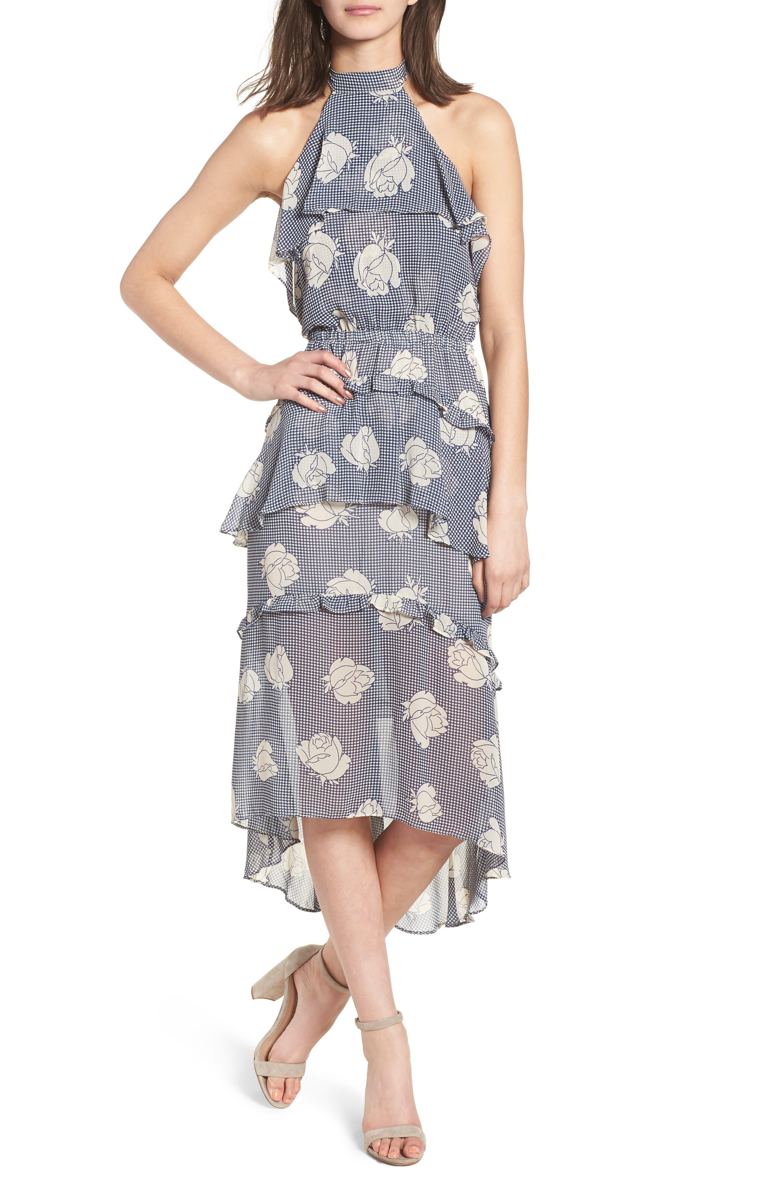 Anca Halter Dress,                         Main,                         color, Multi Fe12