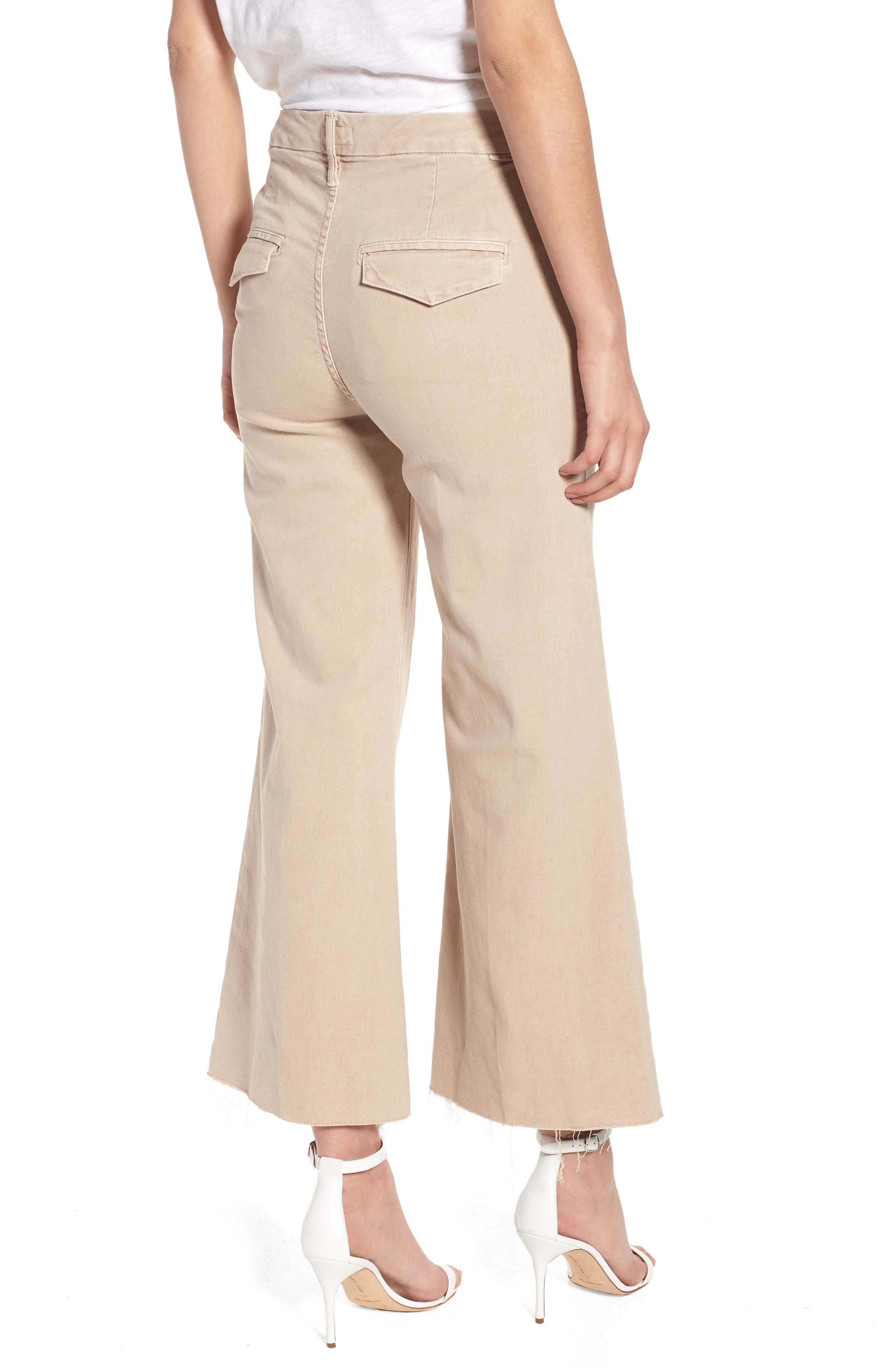 Alternate Image 2  - MOTHER The Roller Fray Crop Wide Leg Jeans
