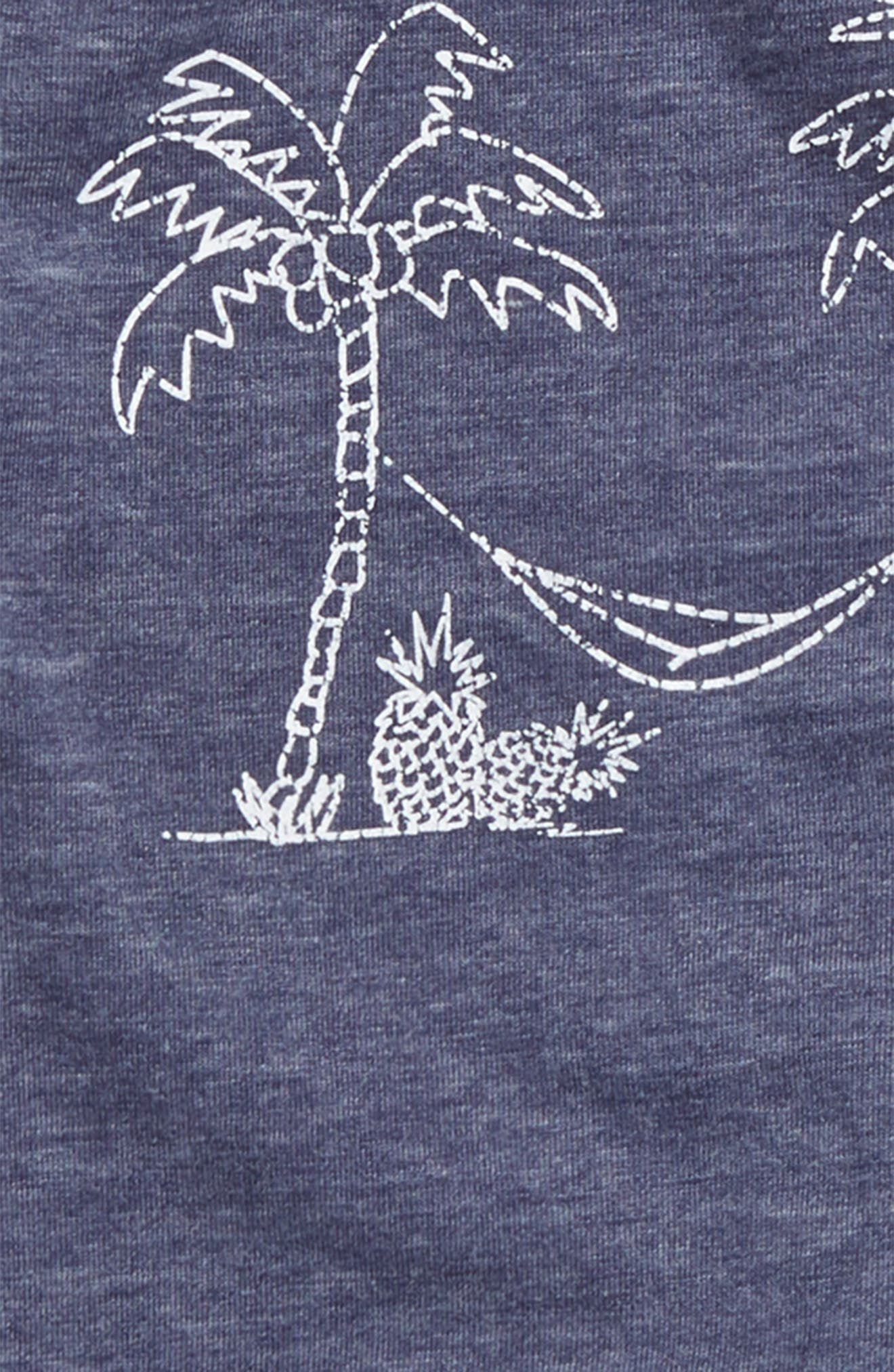 Graphic Burnout T-Shirt & Shorts Set,                             Alternate thumbnail 2, color,                             Indigo Sky