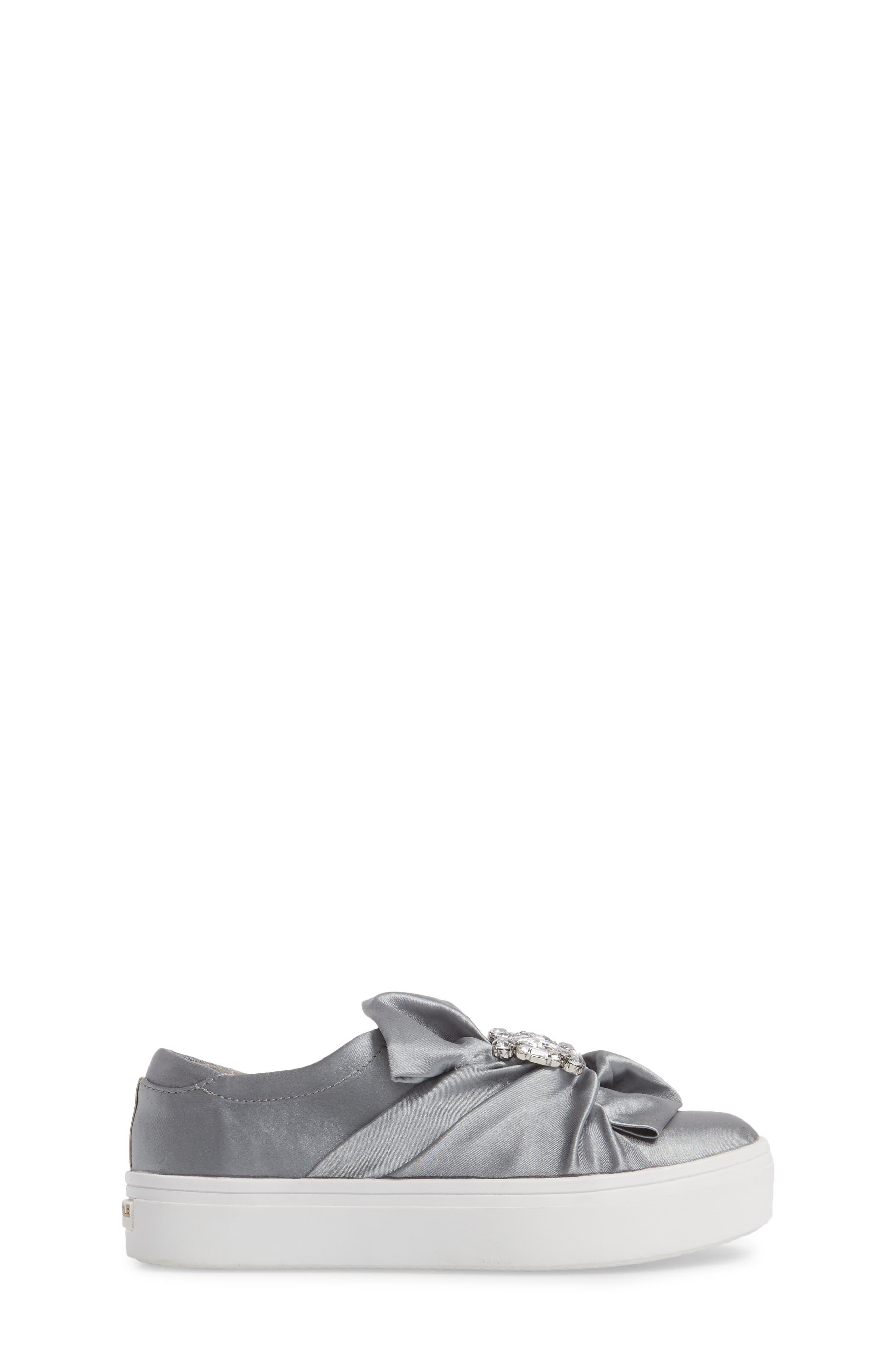 Shout Shine Embellished Sneaker,                             Alternate thumbnail 3, color,                             Gray