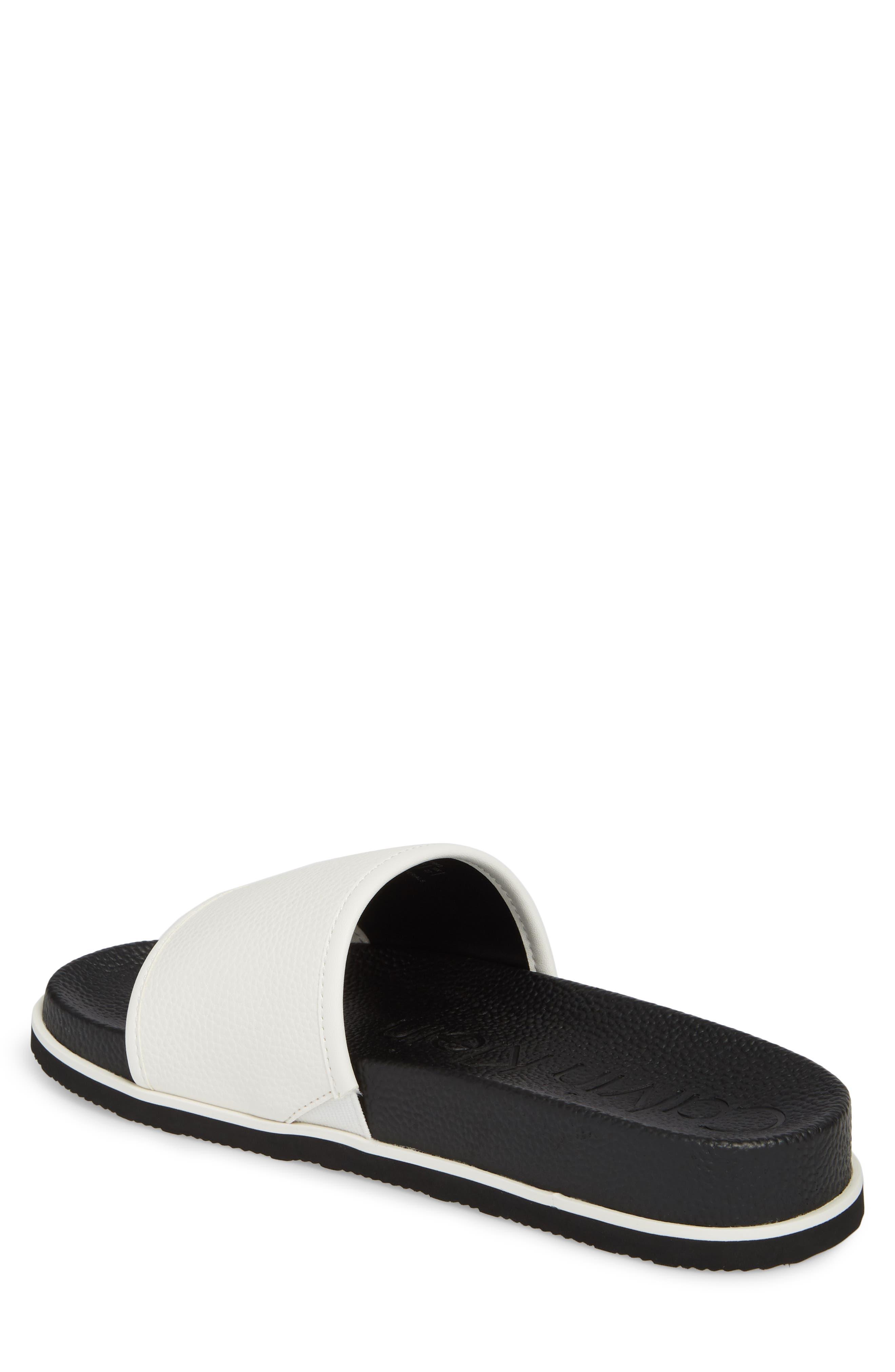 Mackee Sport Slide,                             Alternate thumbnail 2, color,                             White Leather