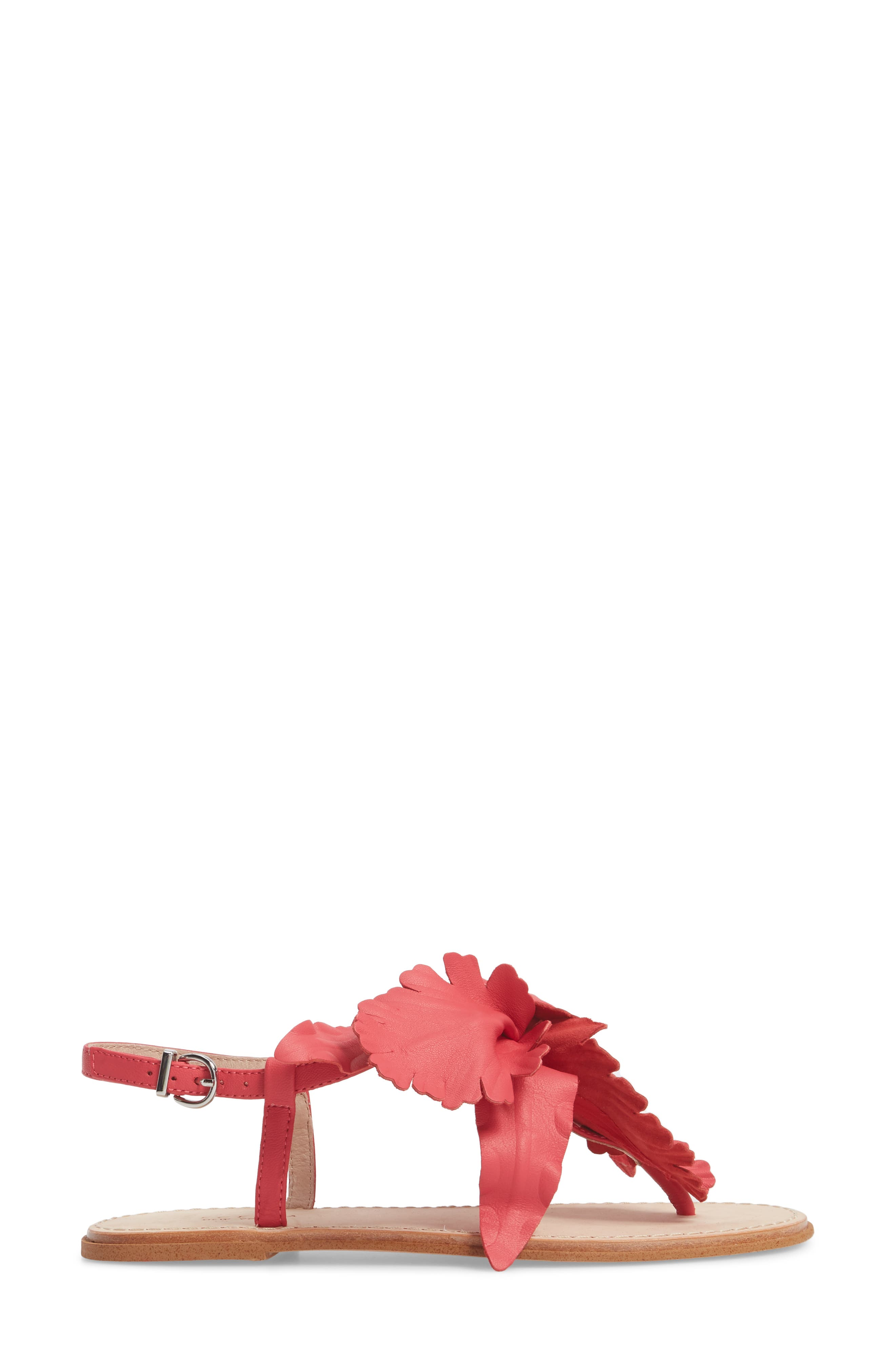 Peony Sandal,                             Alternate thumbnail 3, color,                             Fuchsia Leather