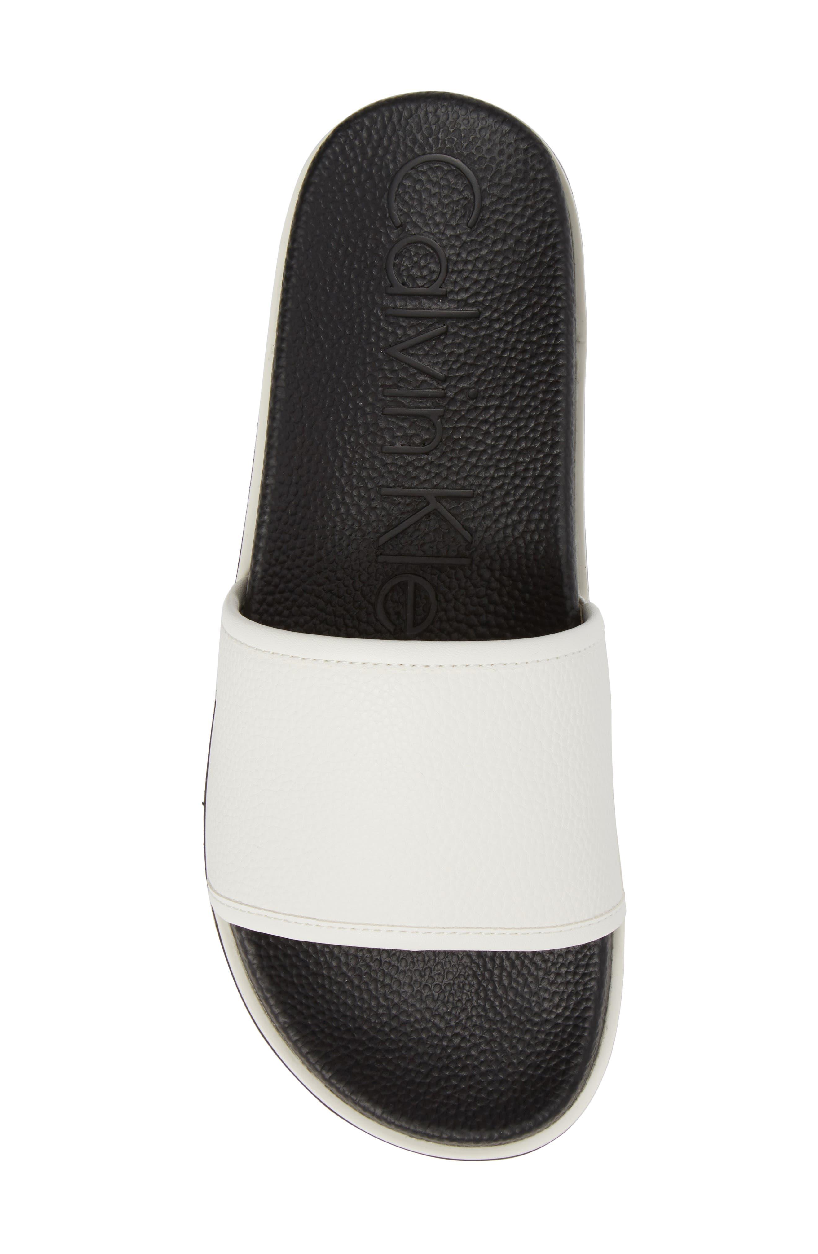 Mackee Sport Slide,                             Alternate thumbnail 5, color,                             White Leather