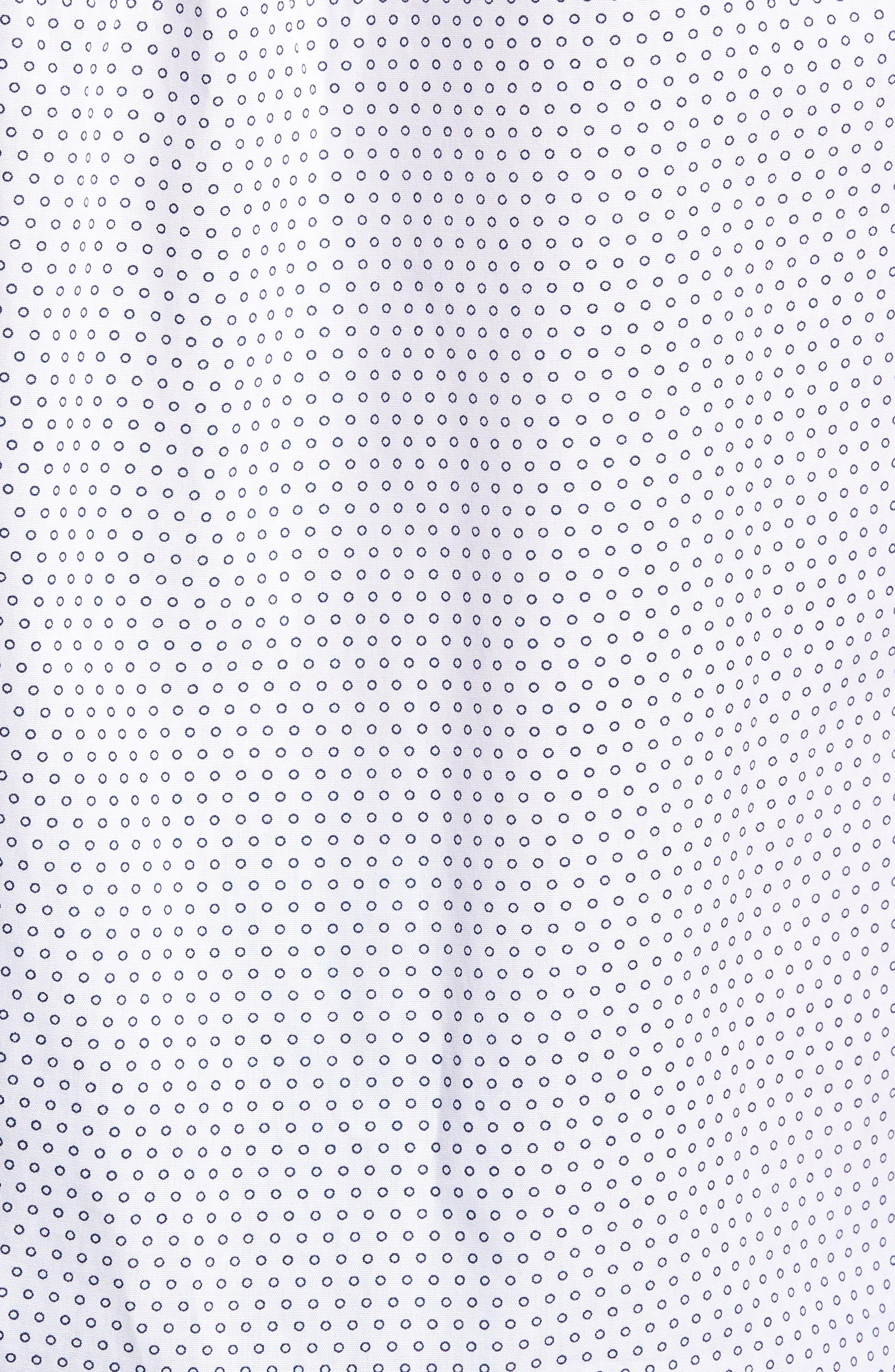 Lights of Home Slim Fit Short Sleeve Sport Shirt,                             Alternate thumbnail 5, color,                             White