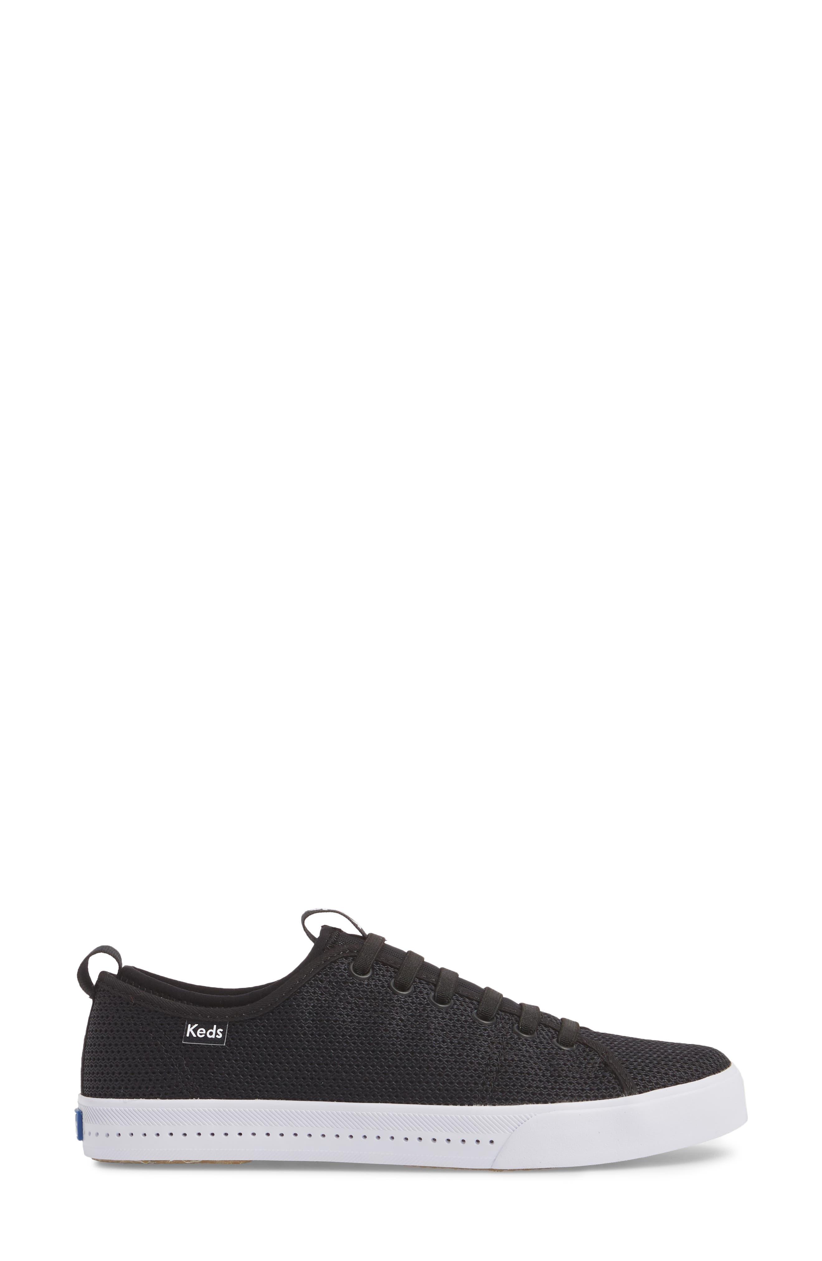 Driftkick Heathered Mesh Sneaker,                             Alternate thumbnail 3, color,                             Black