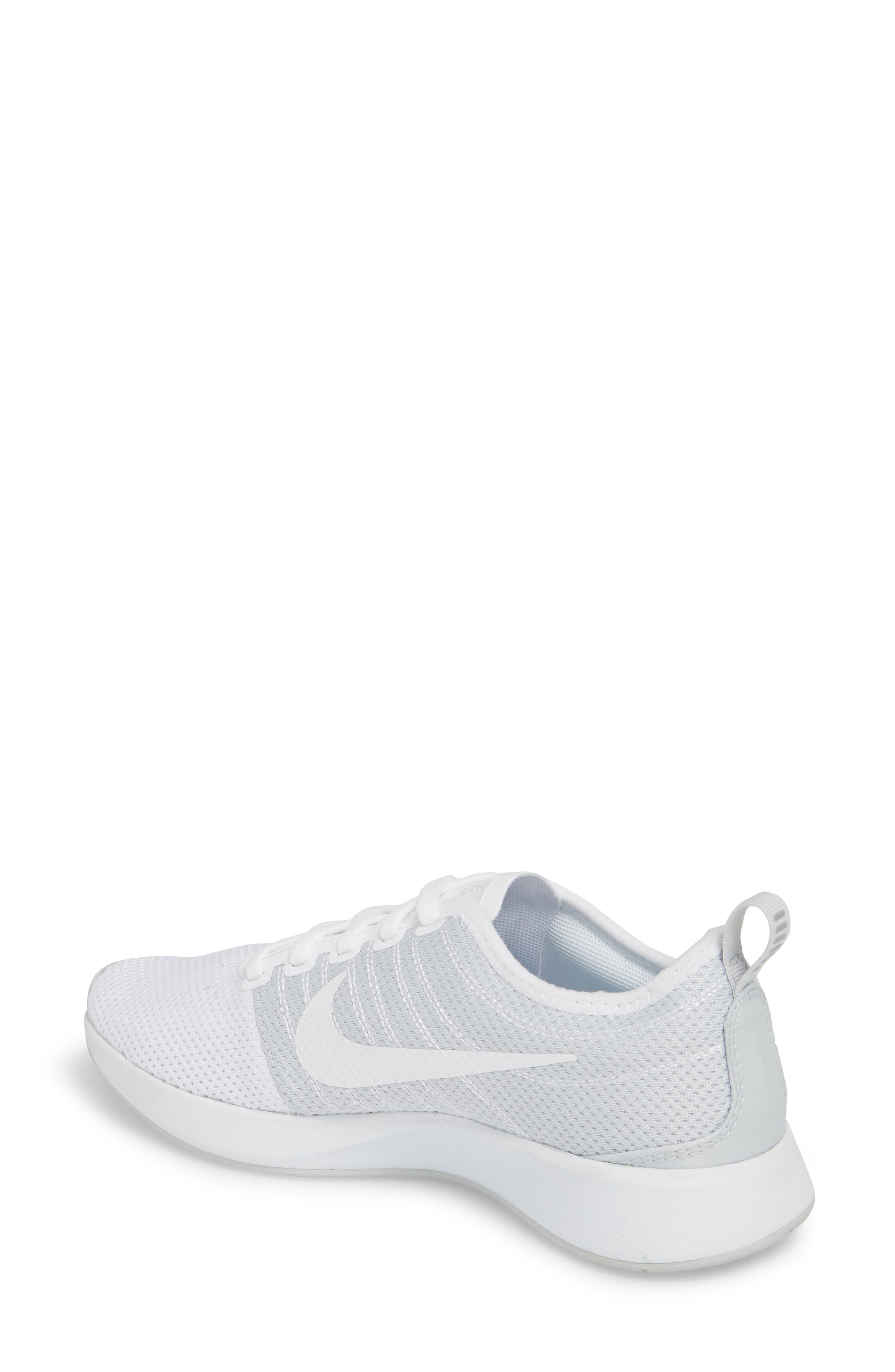Dualtone Racer Running Shoe,                             Alternate thumbnail 2, color,                             White/ Pure Platinum