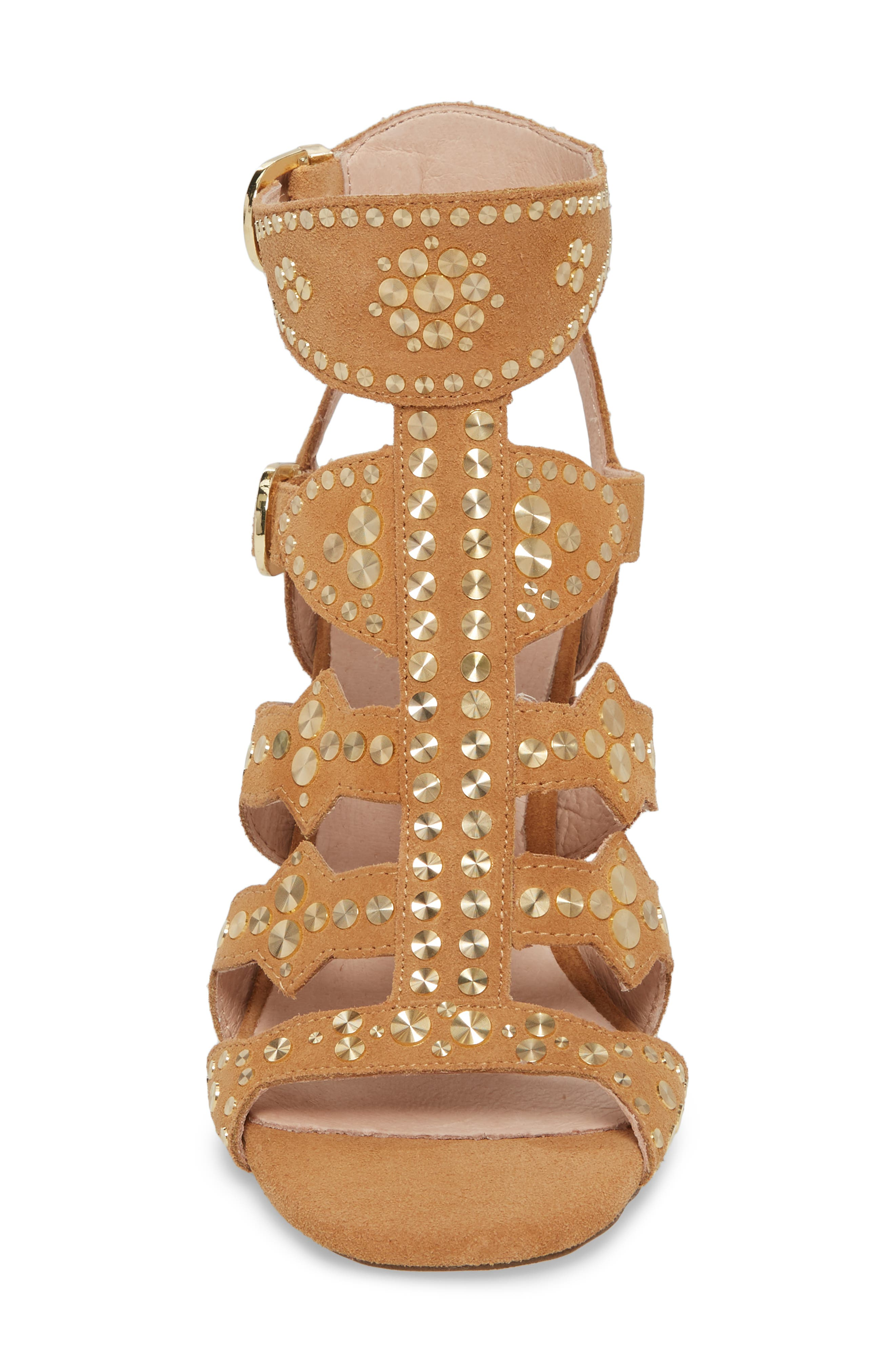 Cosmo Studded Sandal,                             Alternate thumbnail 4, color,                             Sand Suede