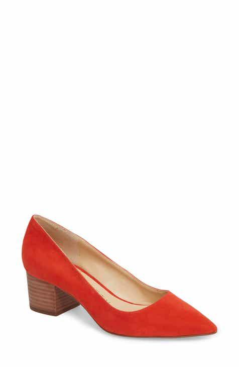 Pink Block Heel Pumps Sandals And Slides For Women