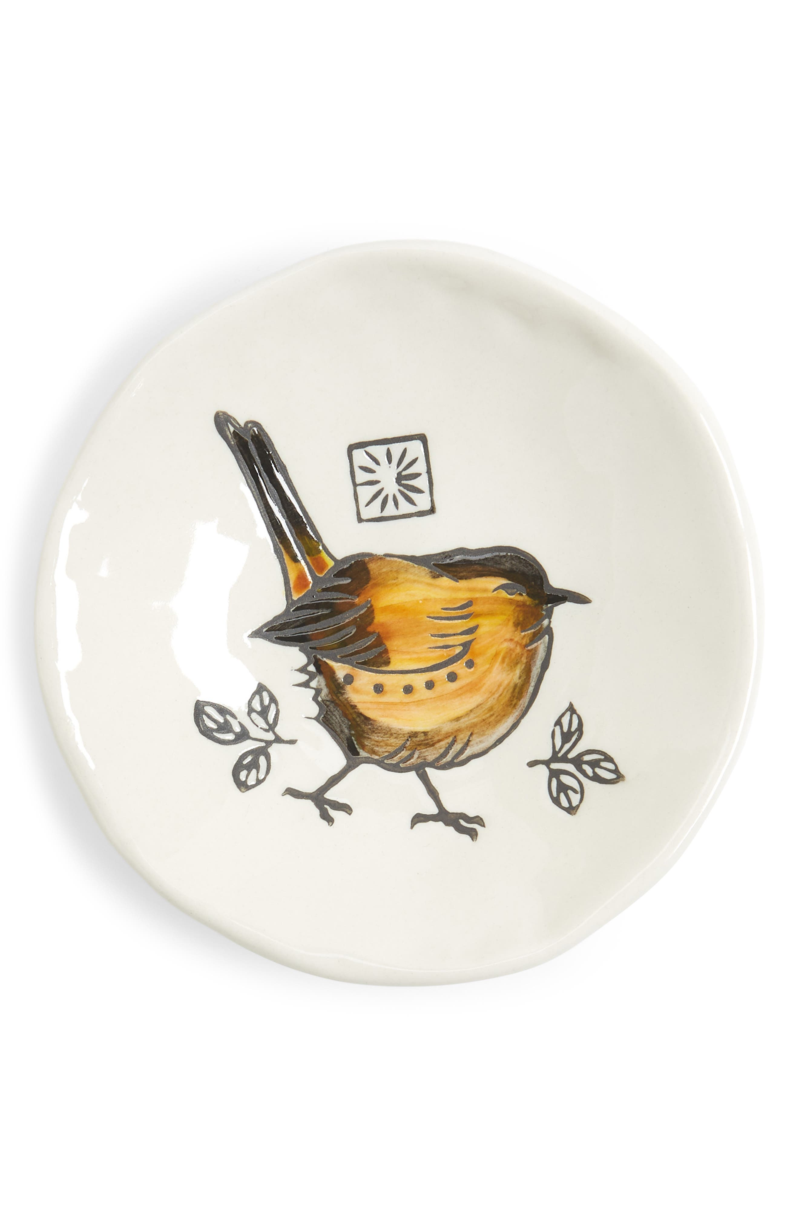 Main Image - Creative Co-Op Small Bird Plate
