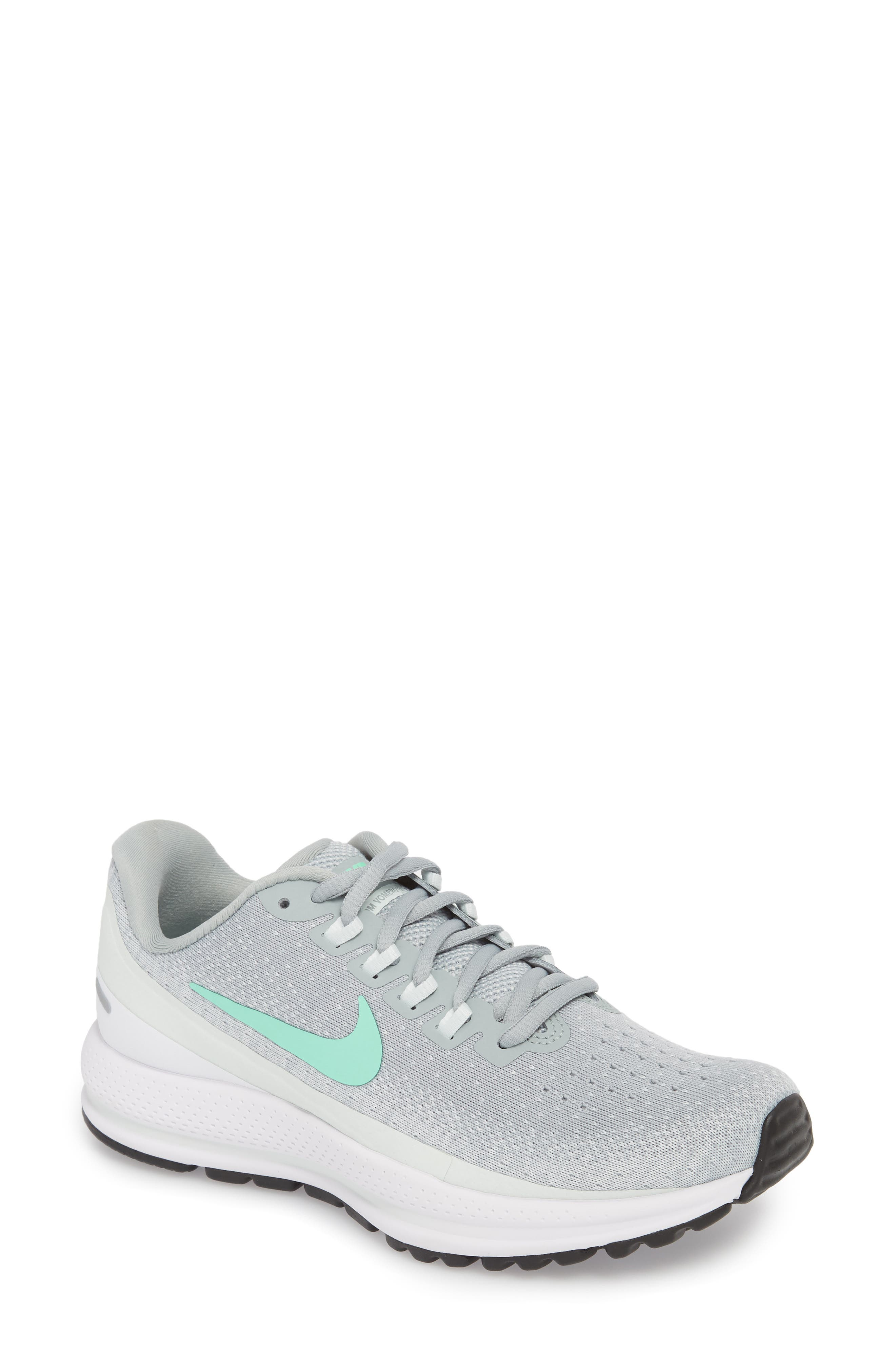 Air Zoom Vomero 13 Running Shoe,                             Main thumbnail 1, color,                             Light Pumice/ Green Glow
