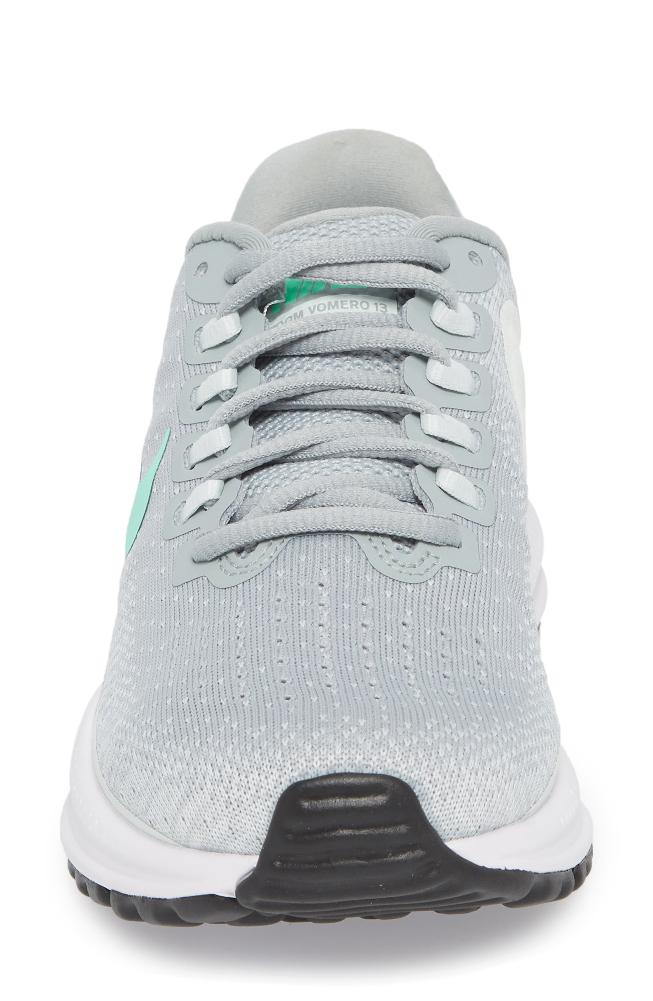 Air Zoom Vomero 13 Running Shoe,                             Alternate thumbnail 3, color,                             Light Pumice/ Green Glow