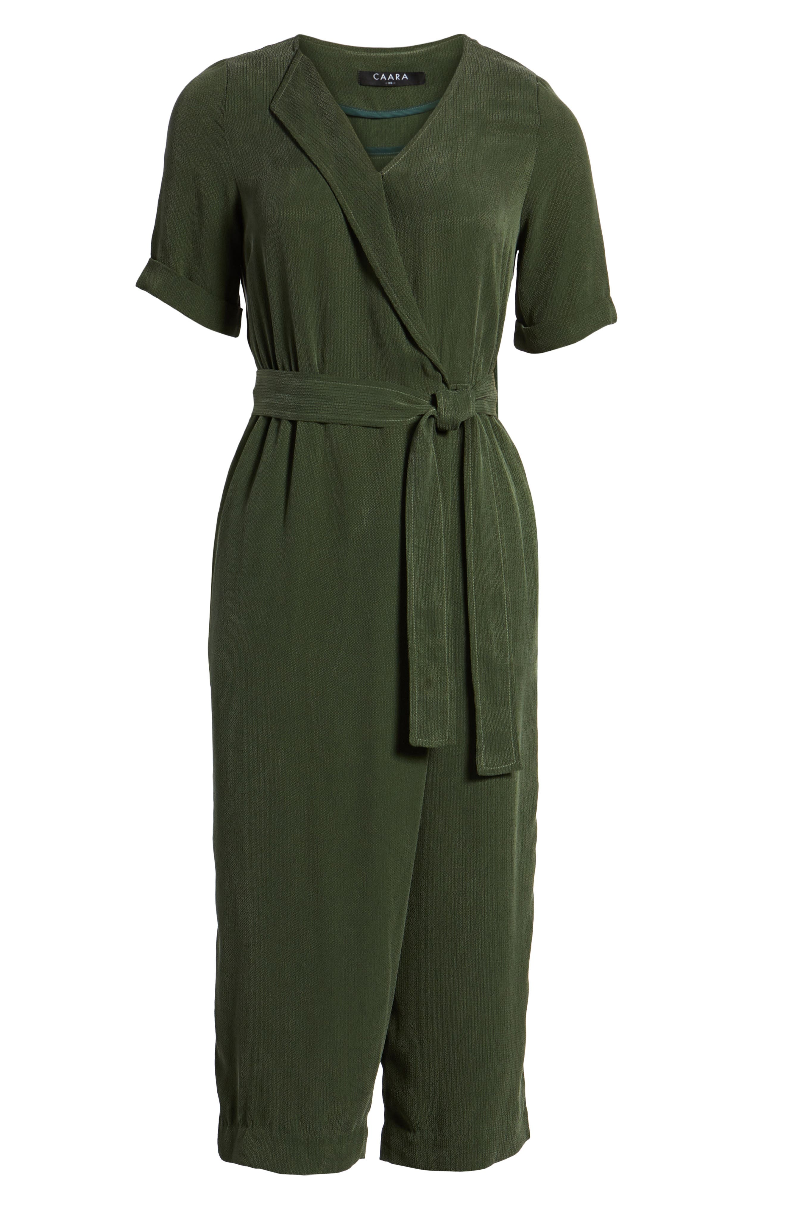 Downstairs Crop Jumpsuit,                             Alternate thumbnail 7, color,                             Green
