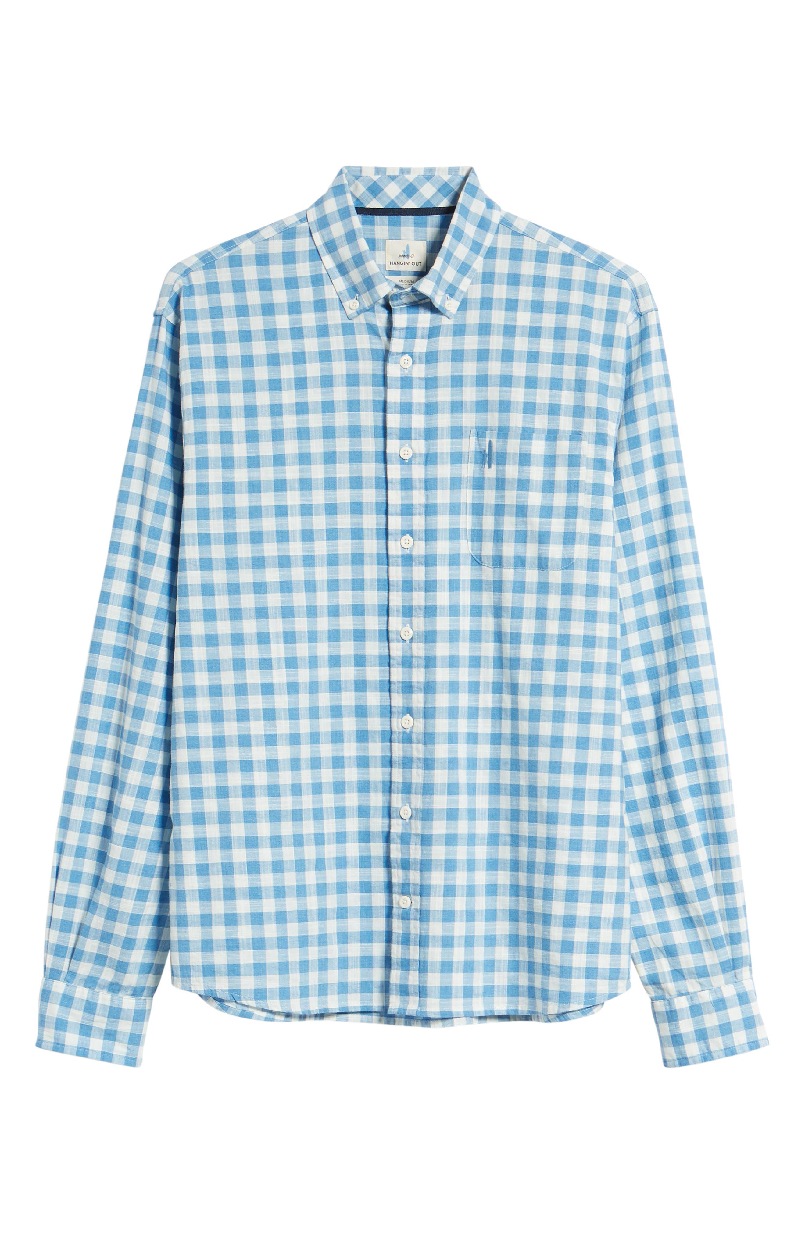 Watts Regular Fit Sport Shirt,                             Alternate thumbnail 6, color,                             Regatta