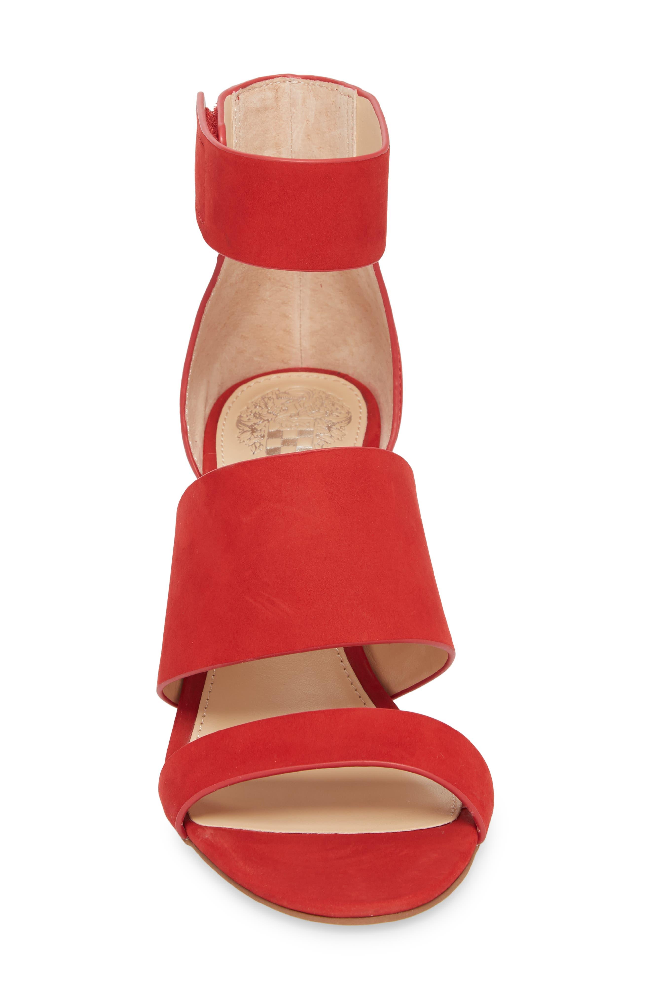 Junette Sandal,                             Alternate thumbnail 4, color,                             Cherry Red Leather