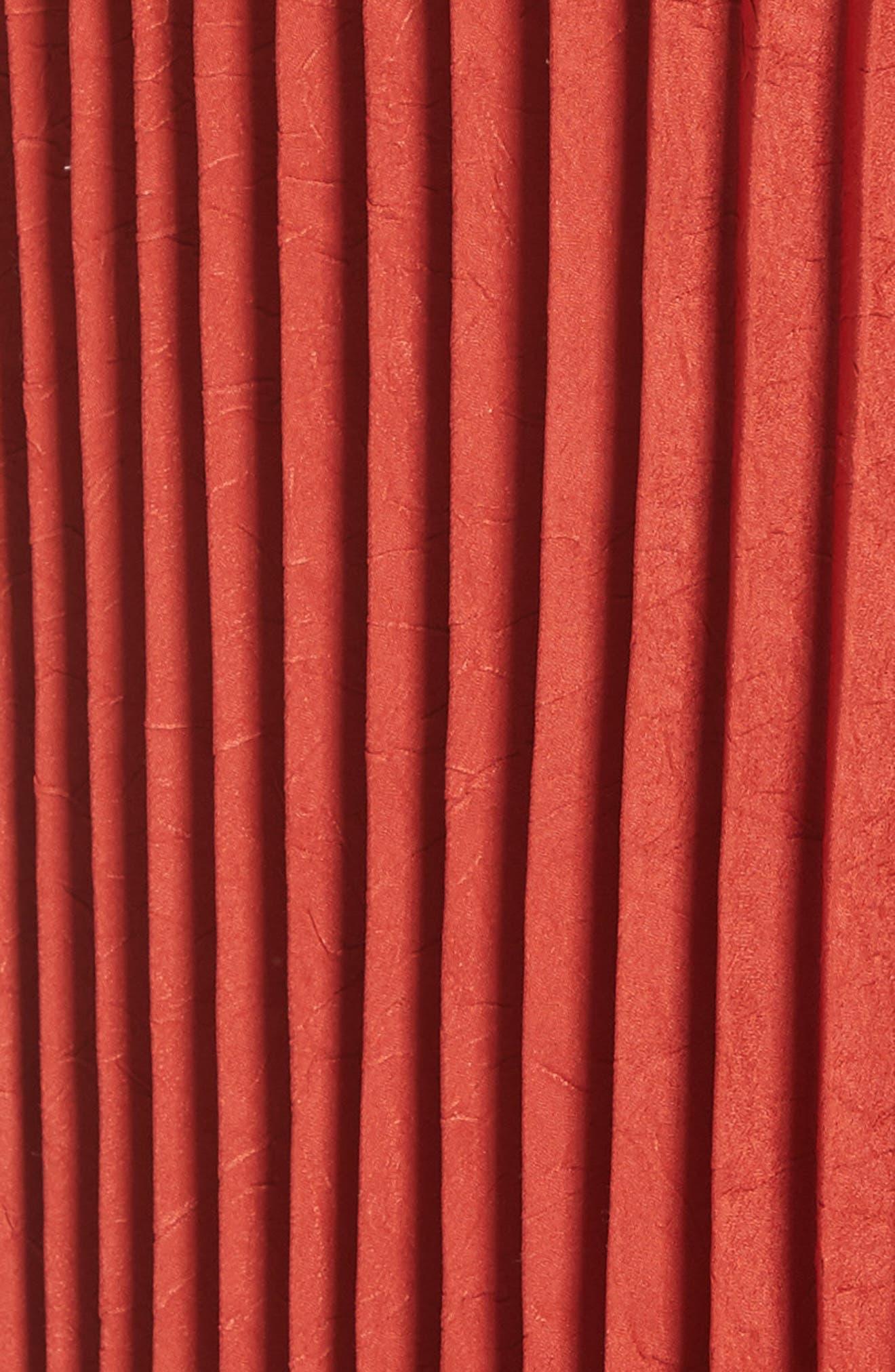 Pleated Cami Dress,                             Alternate thumbnail 5, color,                             Paprika