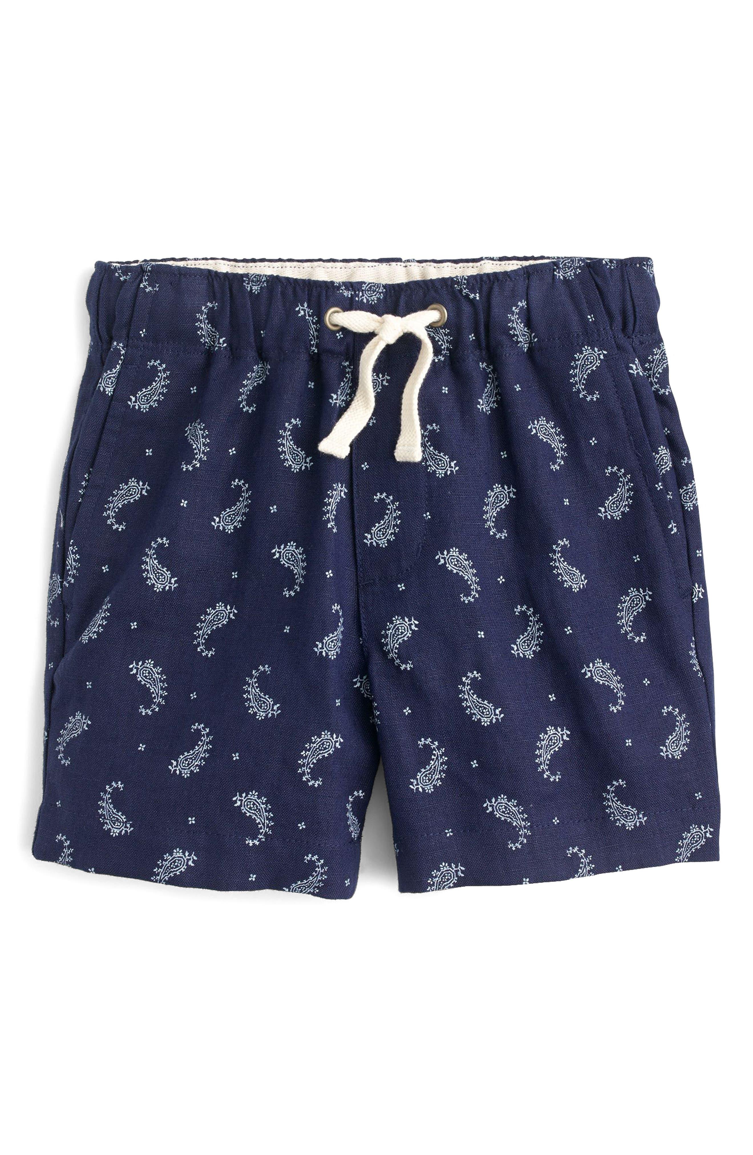 Paisley Dock Shorts,                             Main thumbnail 1, color,                             Indigo Bandana