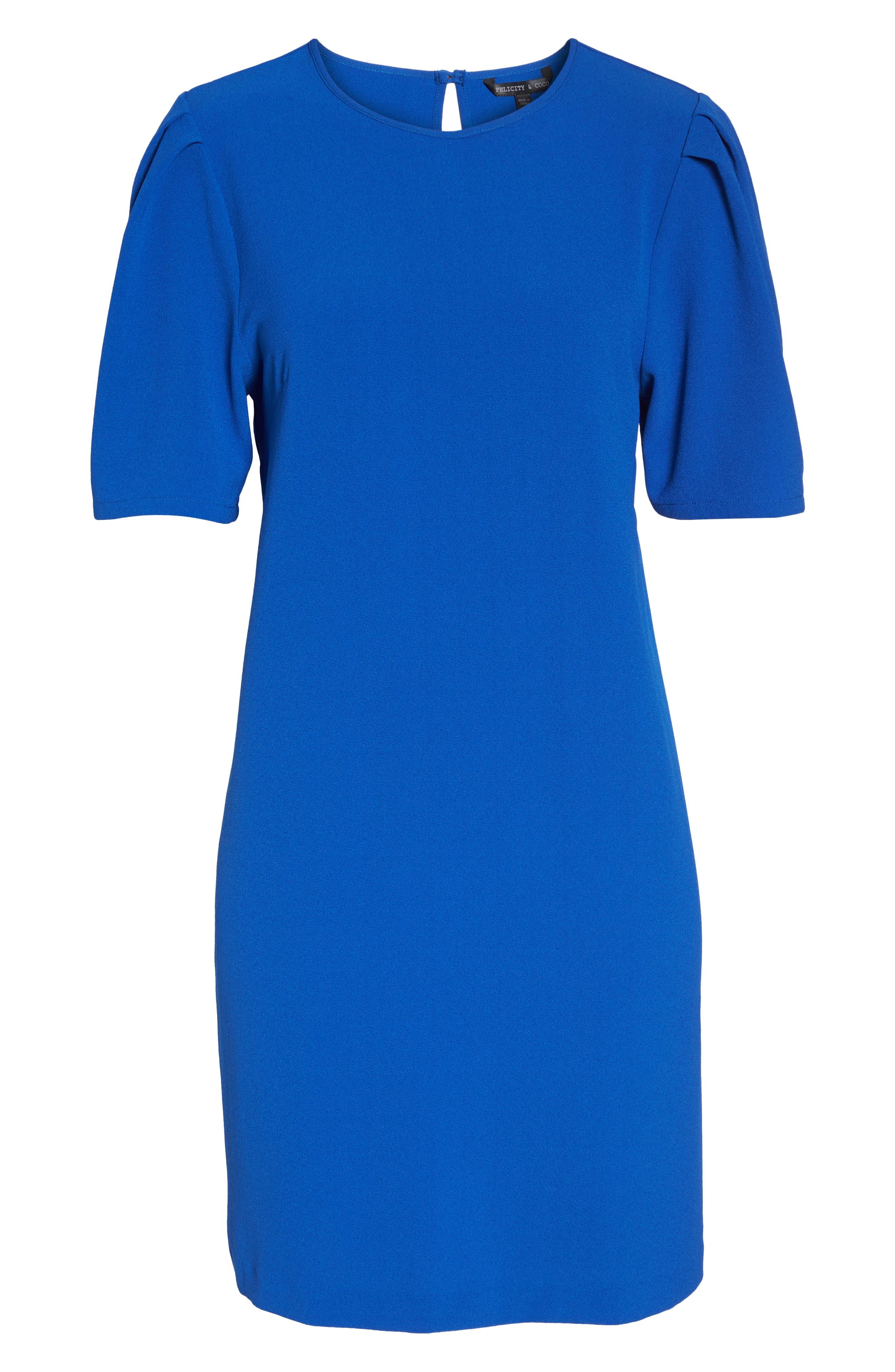 Anya Shift Dress,                             Alternate thumbnail 7, color,                             Cobalt