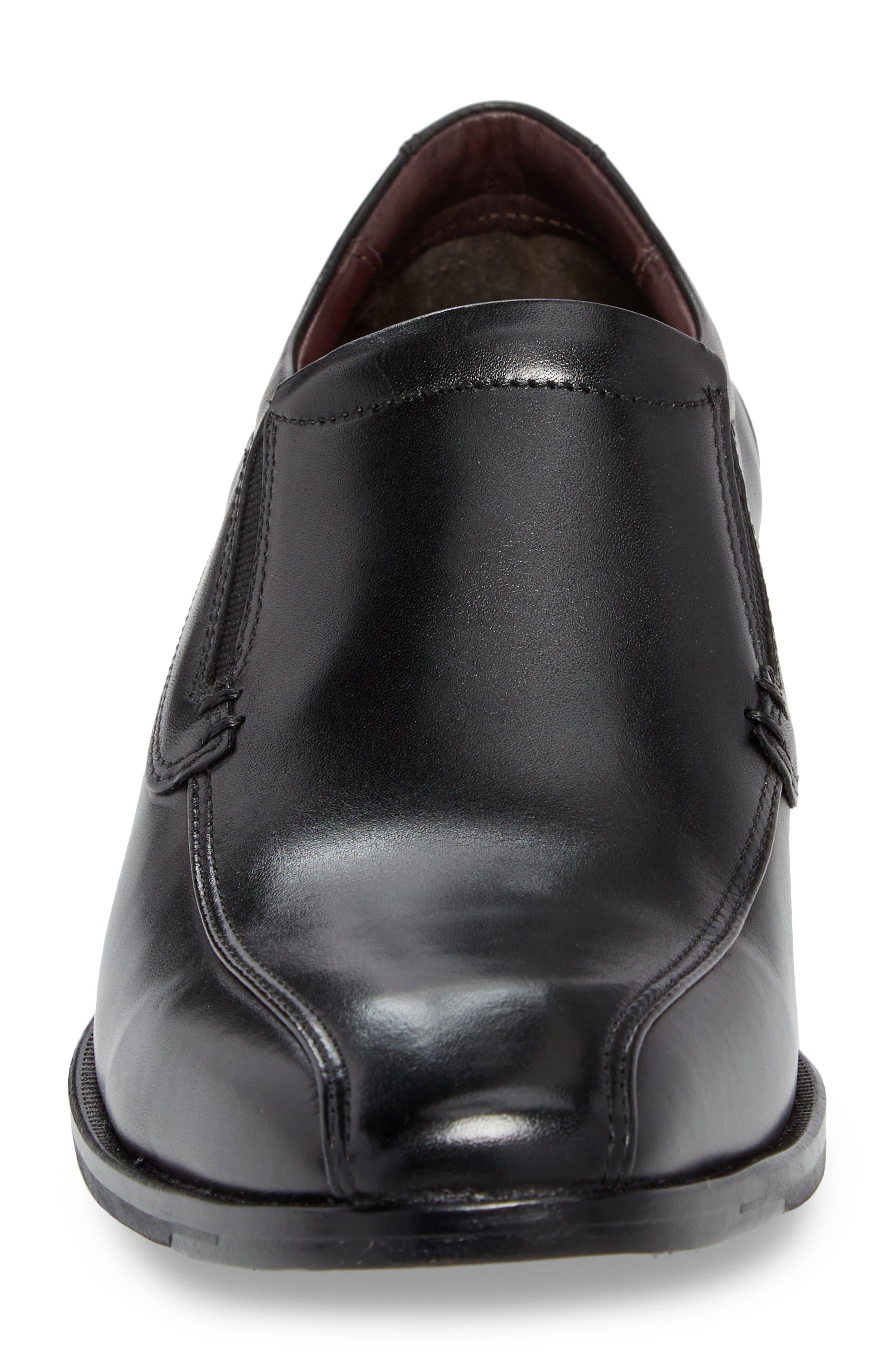 McClain Runoff Bike Toe Slip-On,                             Alternate thumbnail 4, color,                             Black Leather