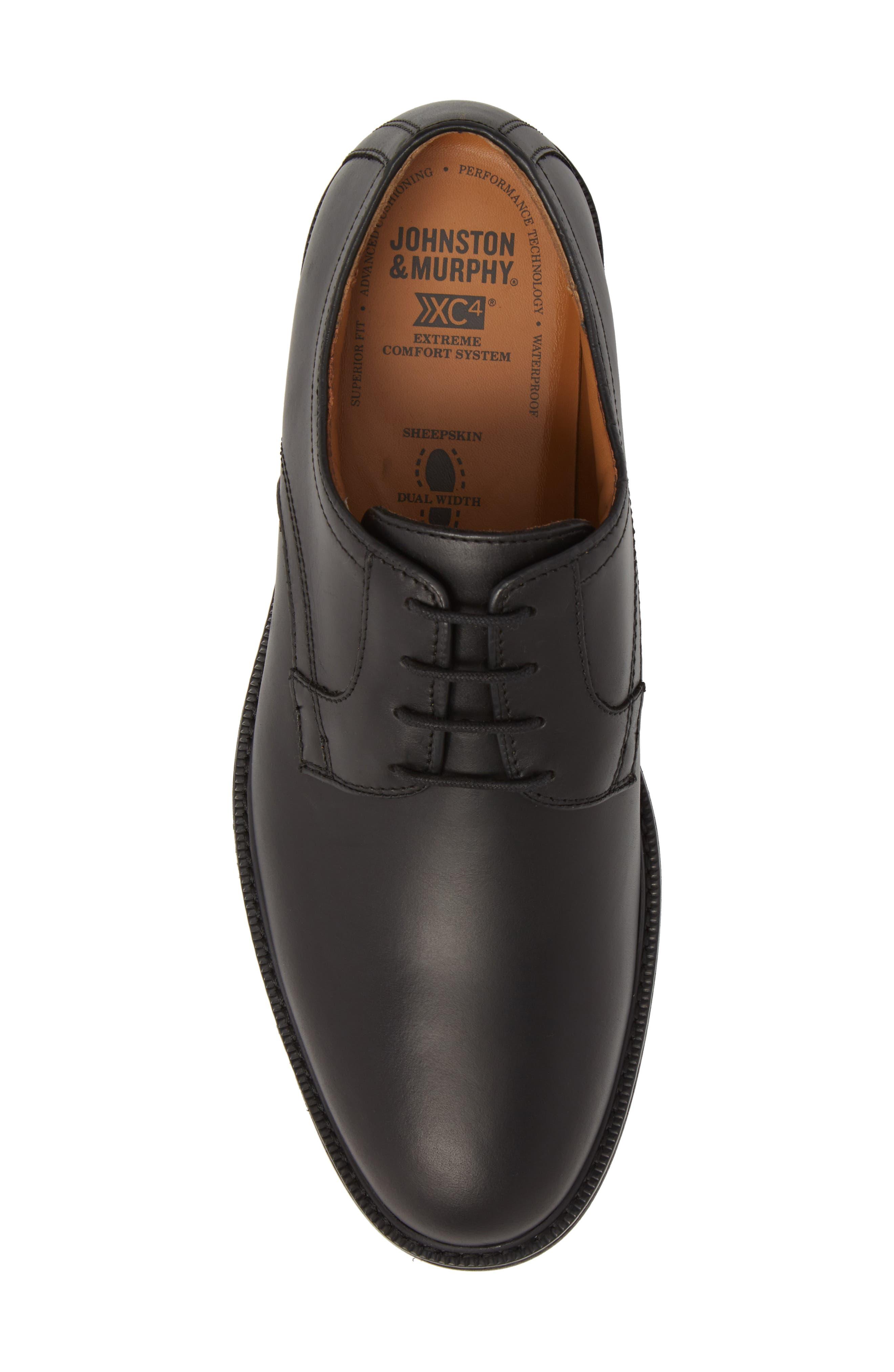 Hollis XC4<sup>®</sup> Plain Toe Derby,                             Alternate thumbnail 5, color,                             Black Nubuck