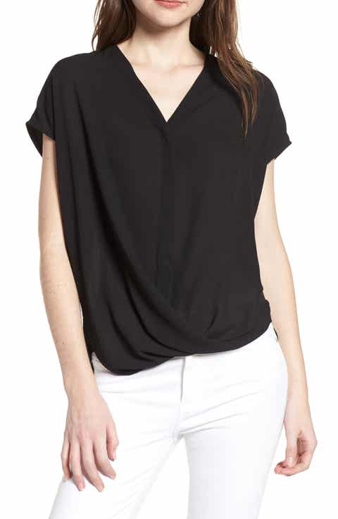 Trouv? Drape Front Top