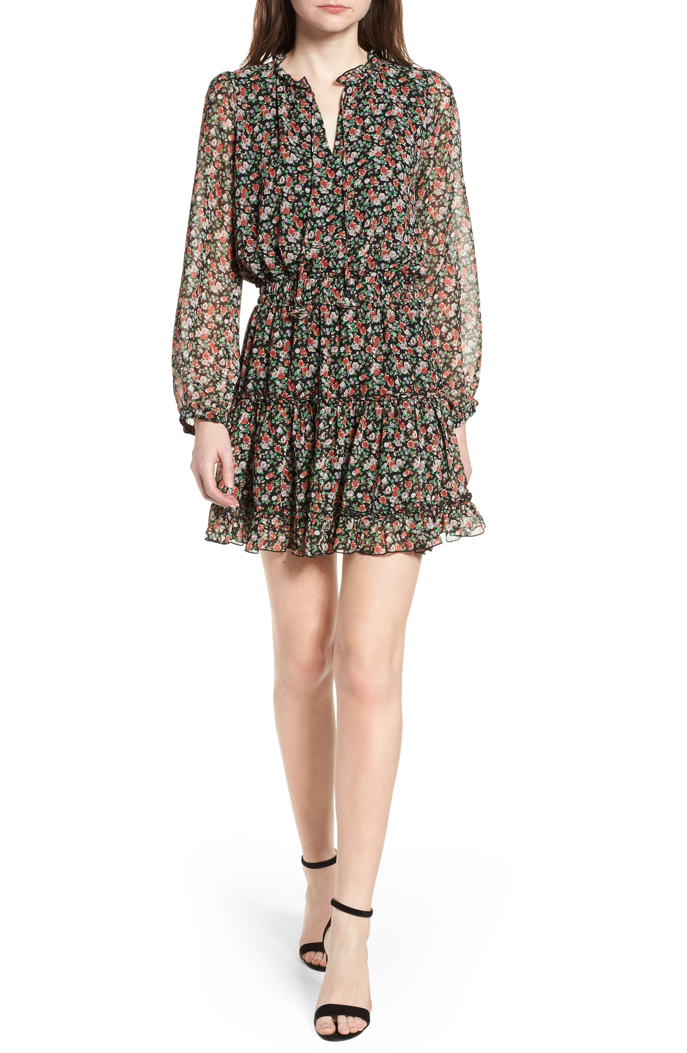 Rosemary Dress,                             Main thumbnail 1, color,                             Black Multi