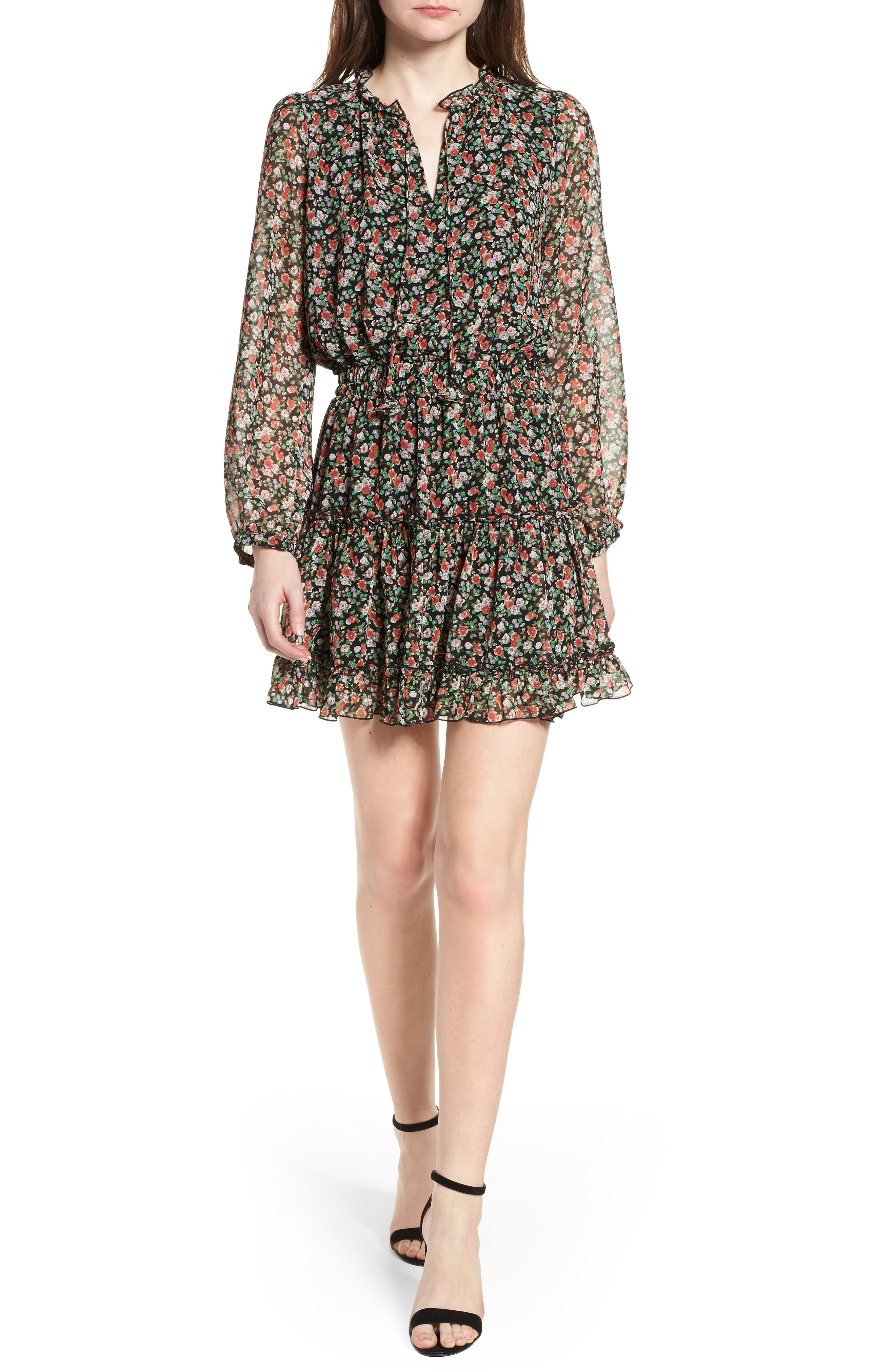 Rosemary Dress,                         Main,                         color, Black Multi