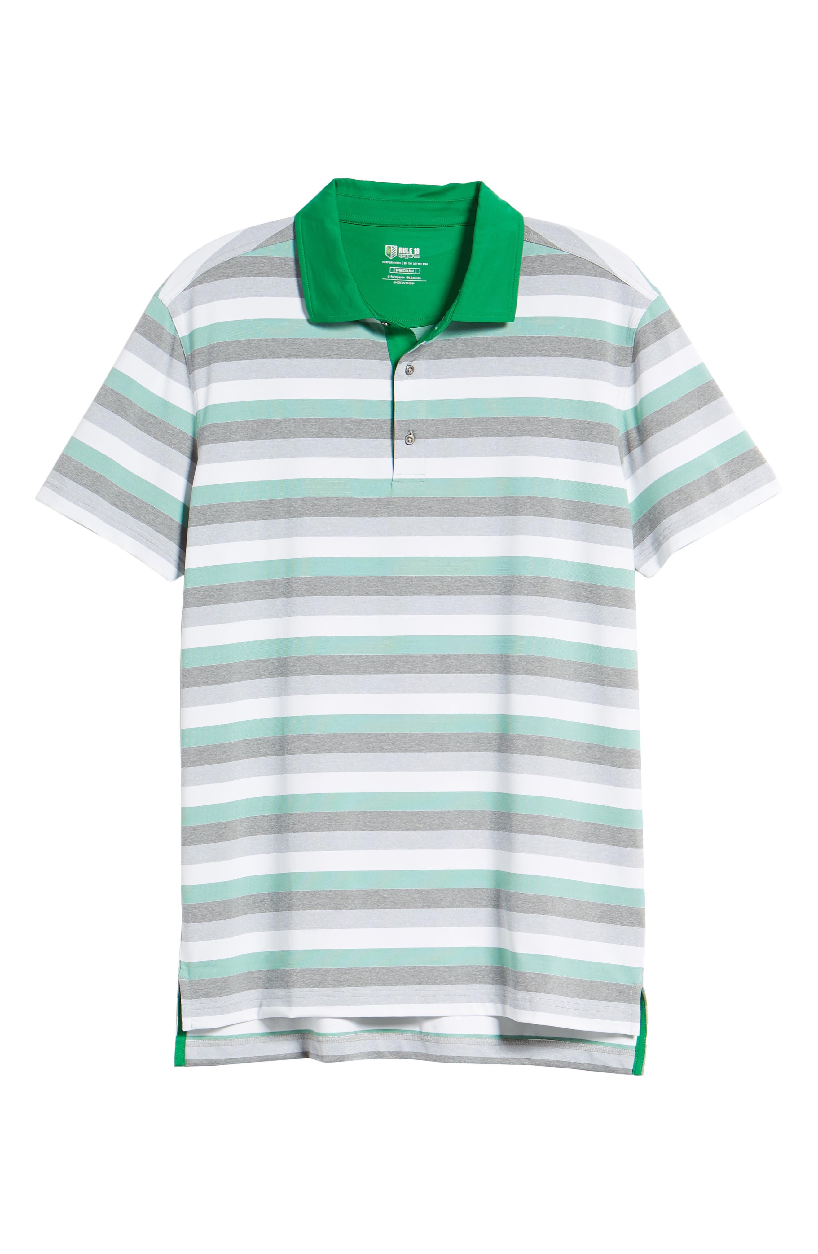 Tech Baylor Stripe Jersey Polo,                             Alternate thumbnail 6, color,                             Kelly