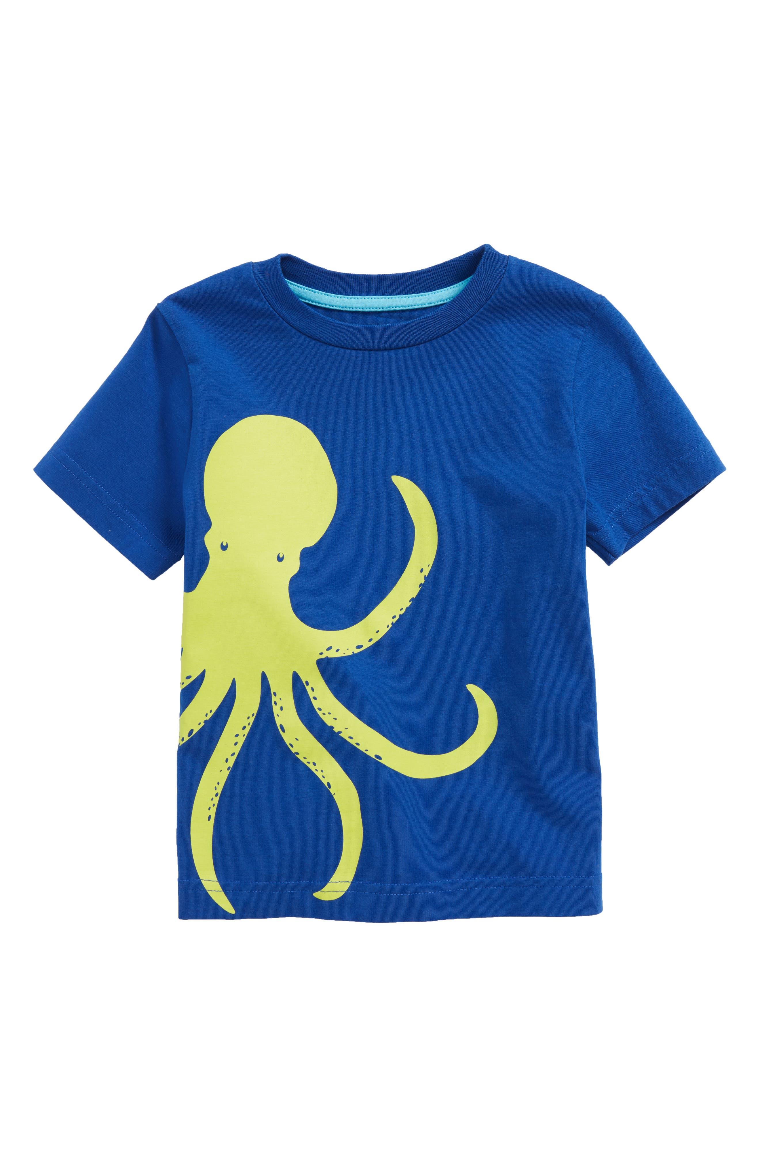Wraparound Octopus T-Shirt,                             Main thumbnail 1, color,                             Orion Blue Octopus